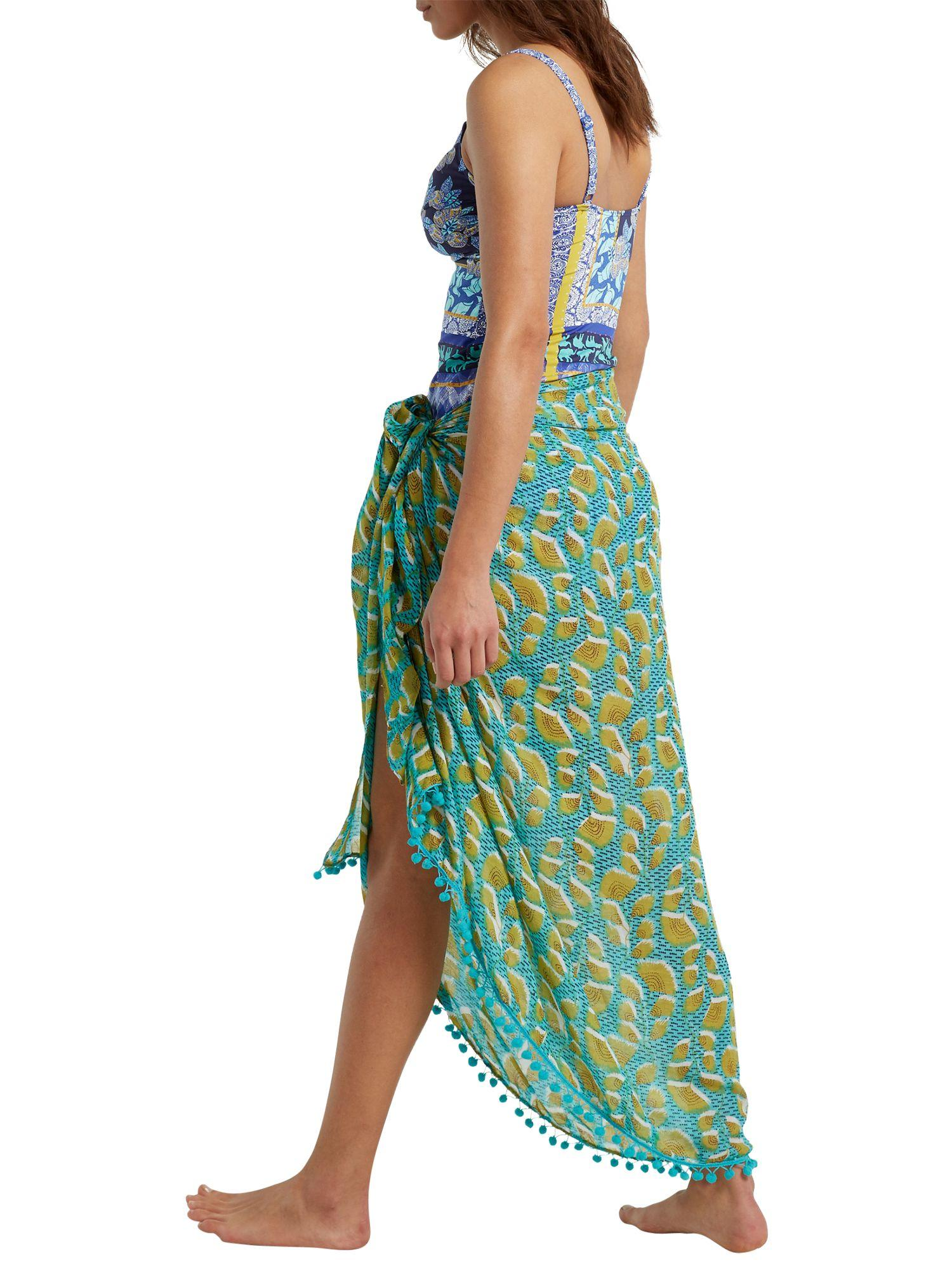a44b95b6ba White Stuff Pacific Leaf Sarong in Green - Lyst
