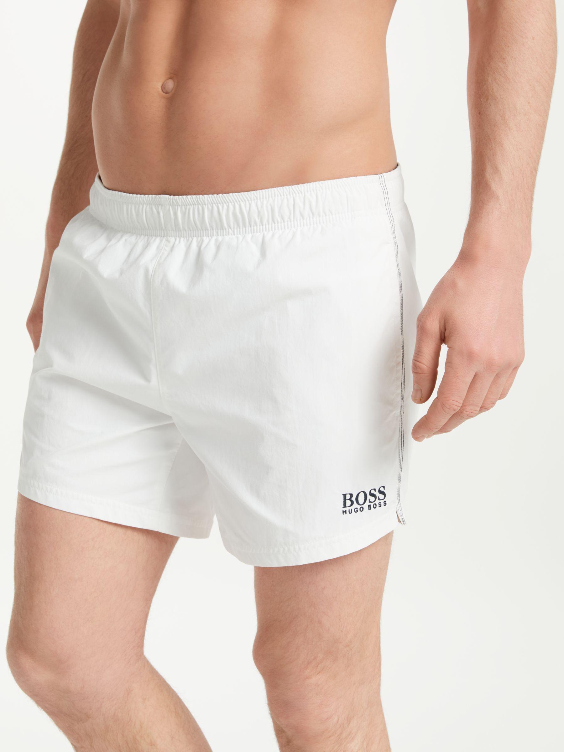 cdca33391f BOSS Boss Plain Swim Shorts in White for Men - Lyst