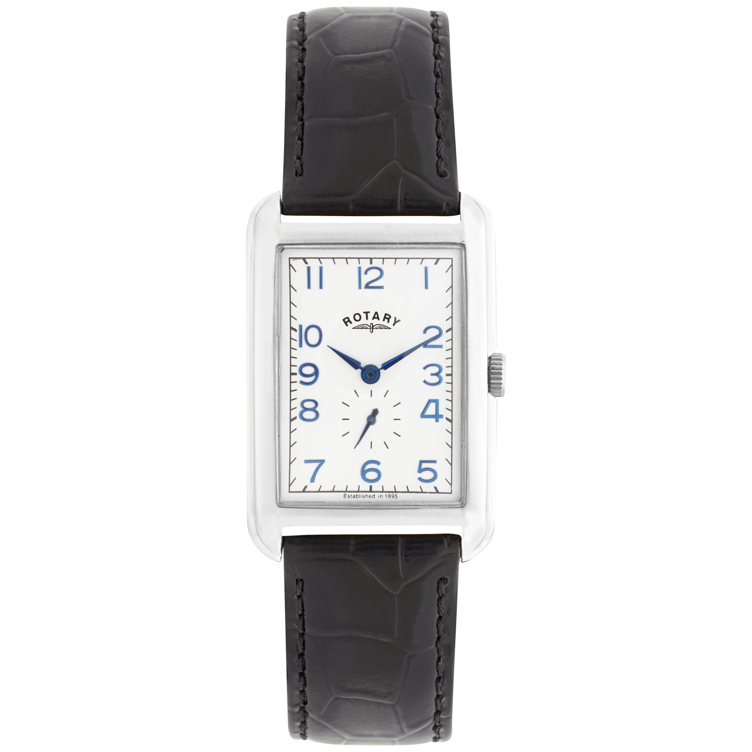 47568cae4461f Lyst - John Lewis Rotary Men s Portland Leather Strap Watch in Black ...