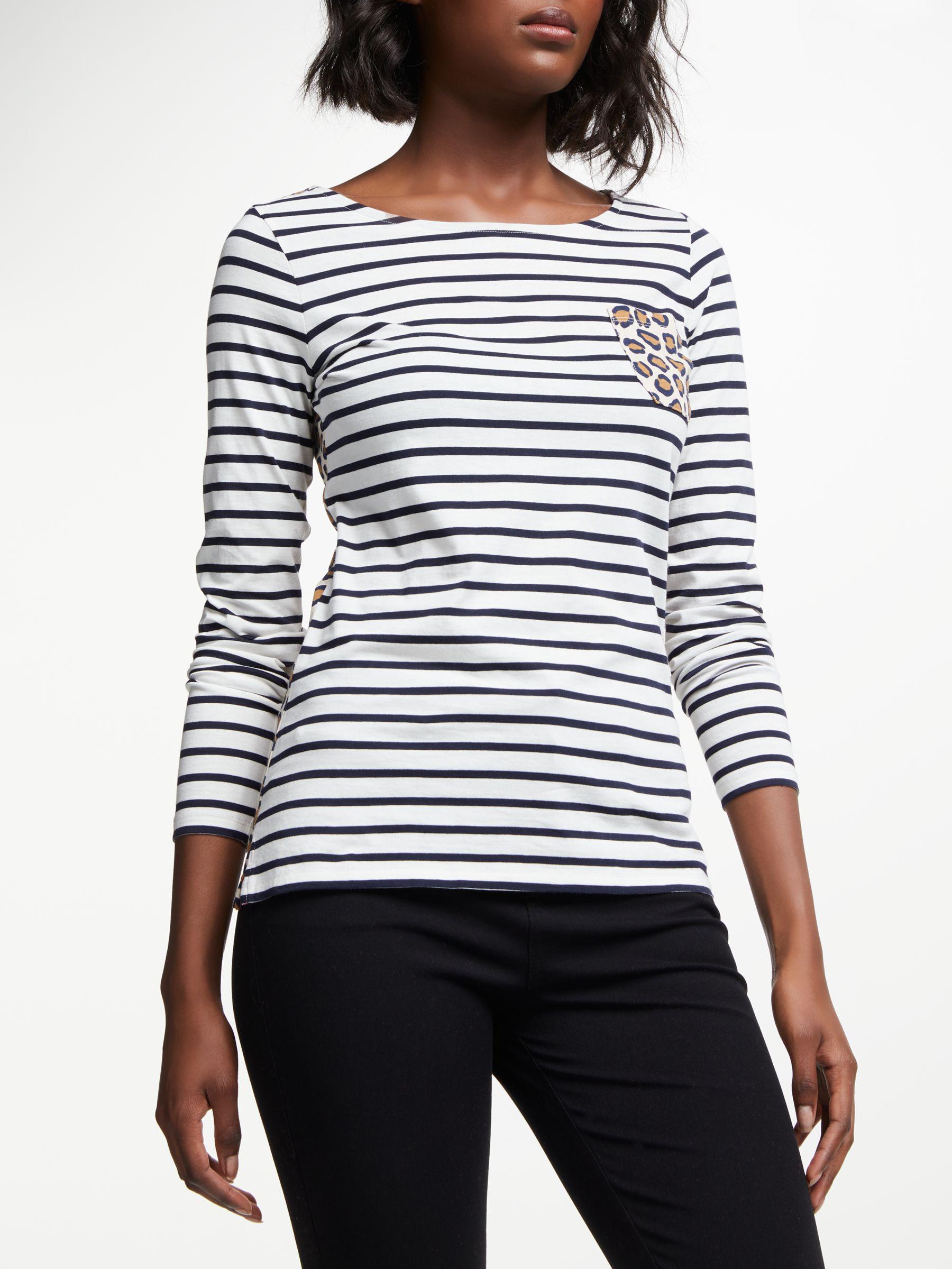 516d0cbf60 Boden Long Sleeve Breton Stripe Top - Lyst
