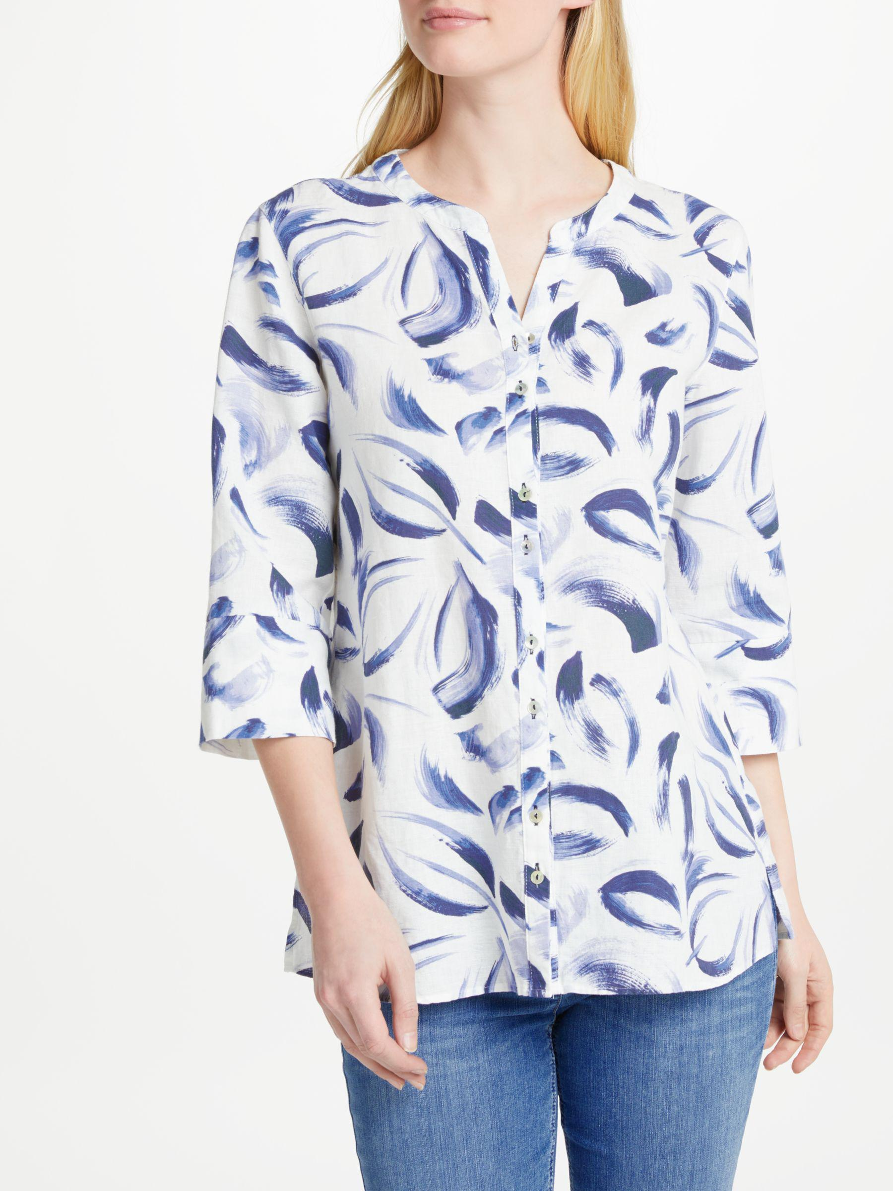 Shirt in pure linen blue female Gerry Weber Clearance Wide Range Of Cheap Manchester Great Sale Purchase For Sale Manchester For Sale PXyhAk1MeM