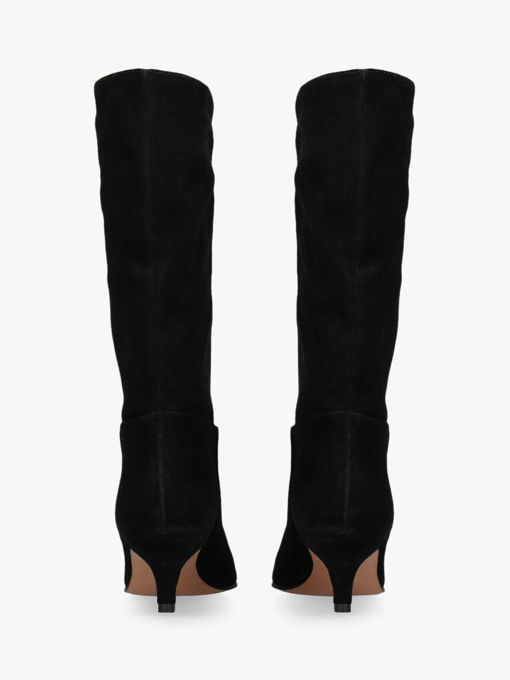 4eb18dcd94a Carvela Kurt Geiger Surround Kitten Heel Calf Boots in Black - Lyst