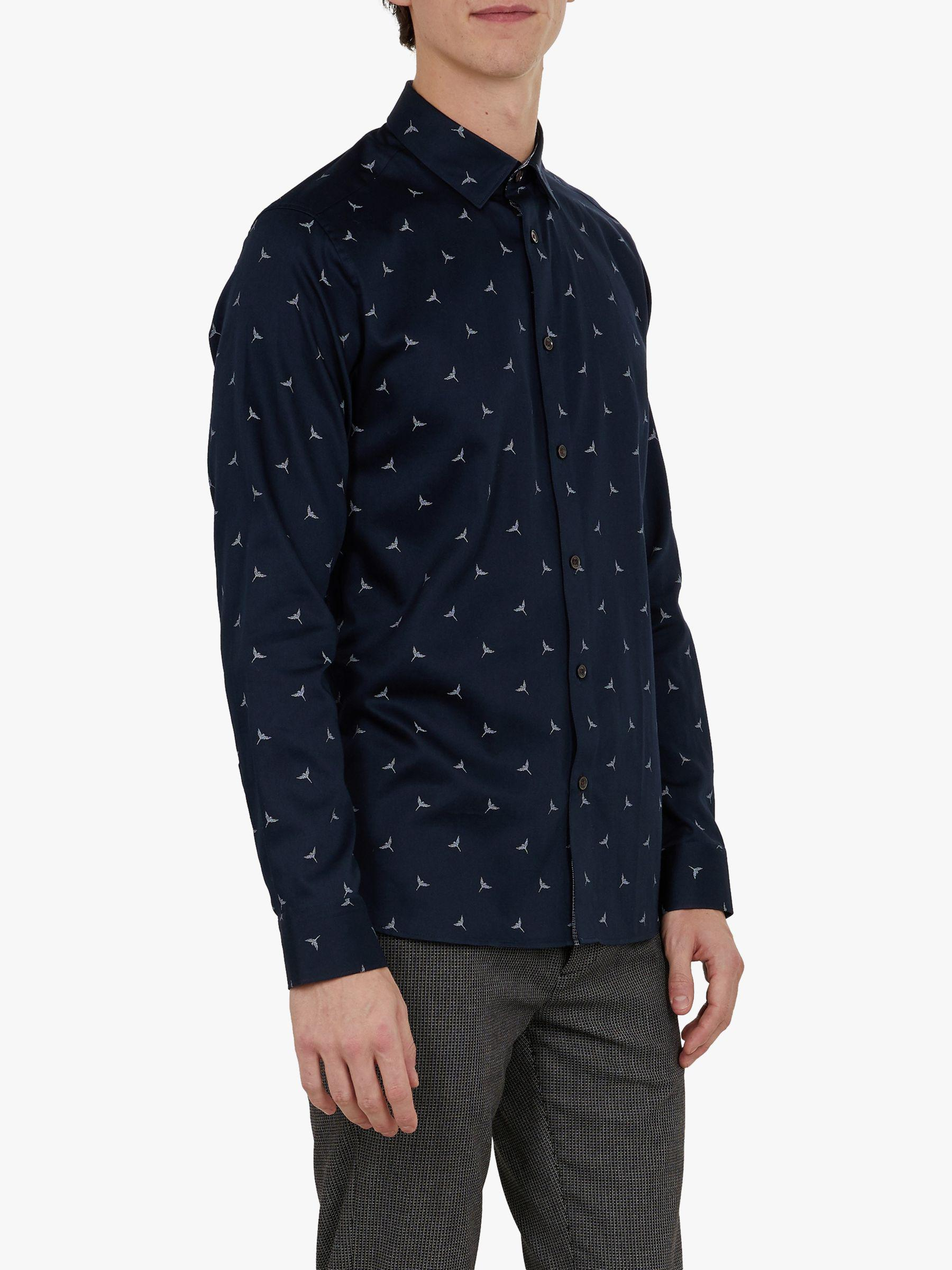 d8d5953456f20 Ted Baker Zoo Animal Print Slim Fit Shirt in Blue for Men - Lyst