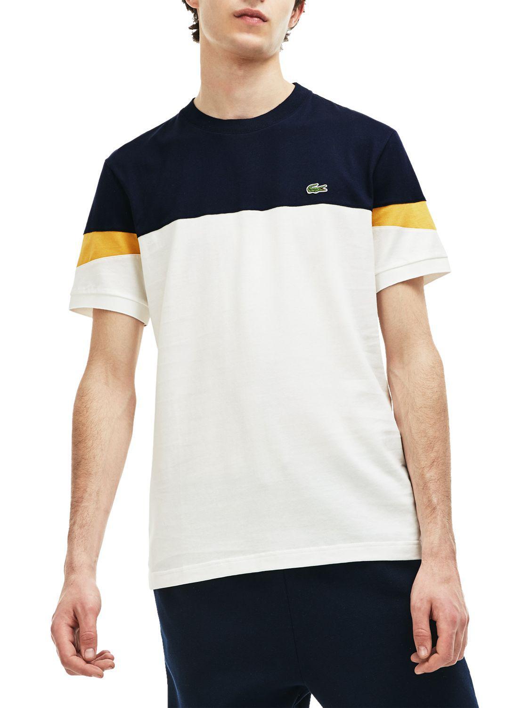 d87451f0 Lacoste Colour Block Short Sleeve T-shirt in Blue for Men - Lyst