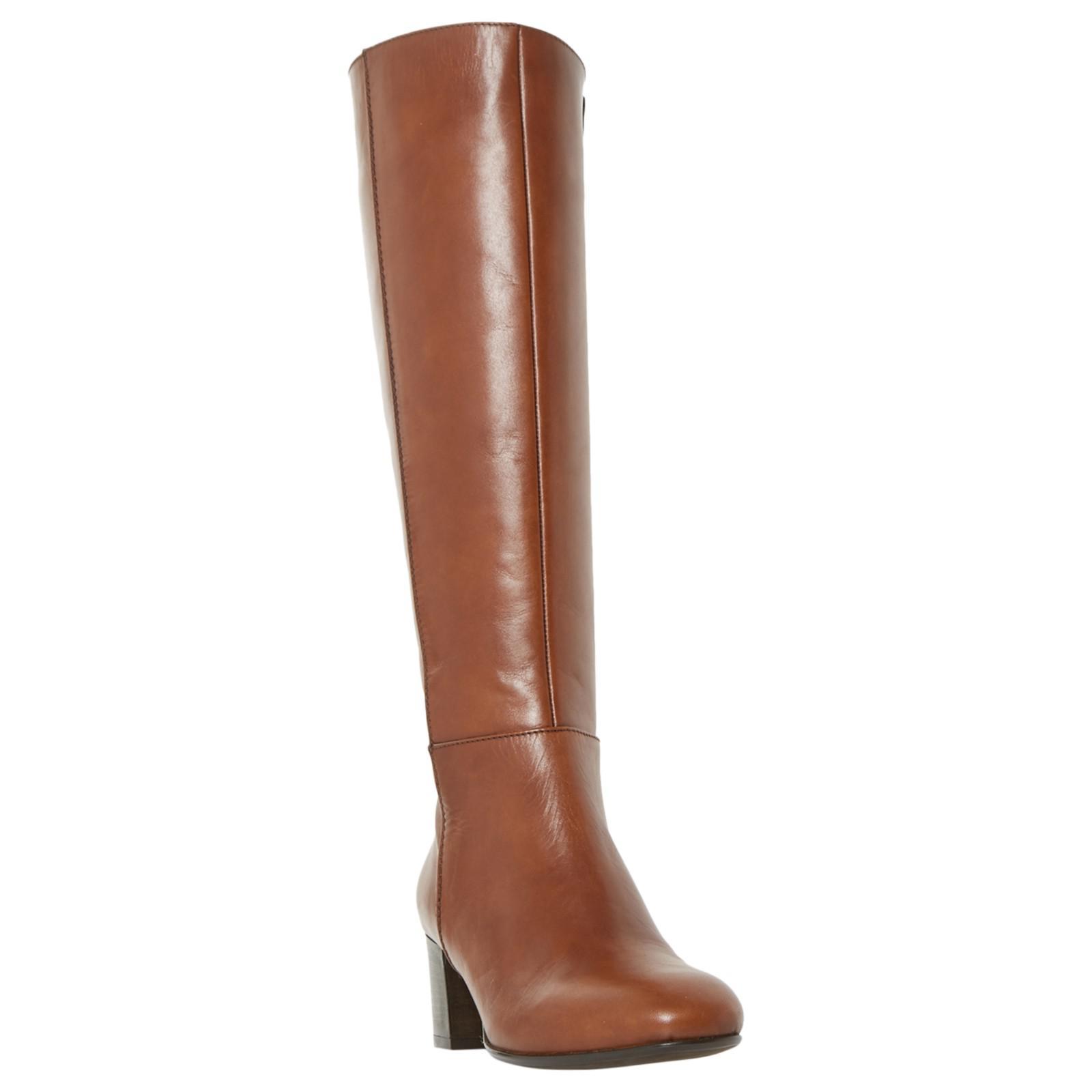 e6f9236c530 Dune Tarak Block Heeled Knee High Boots in Brown - Lyst
