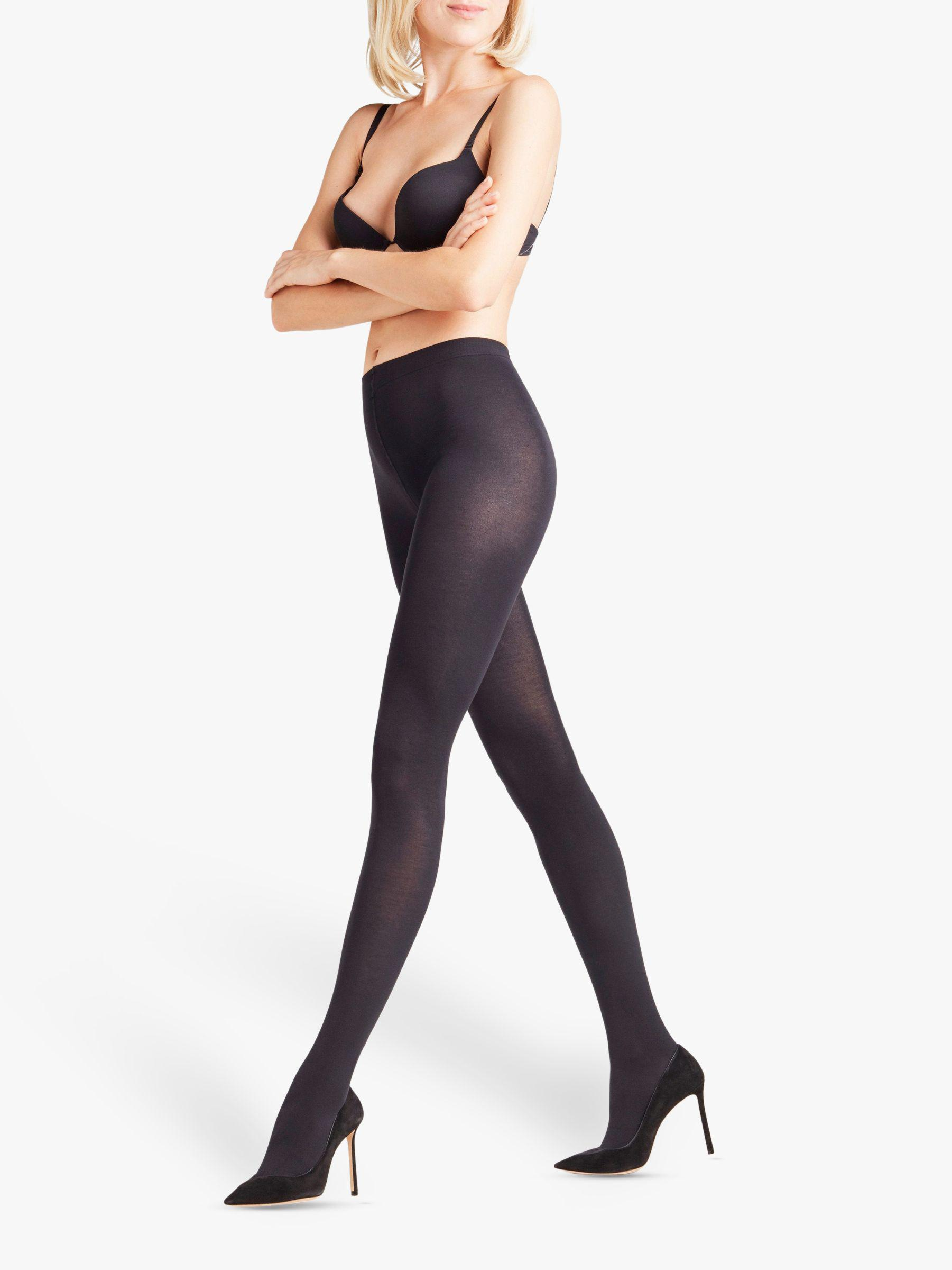 569482883 Falke. Women s Black Cotton Touch Opaque Tights. £26 From John Lewis and  Partners