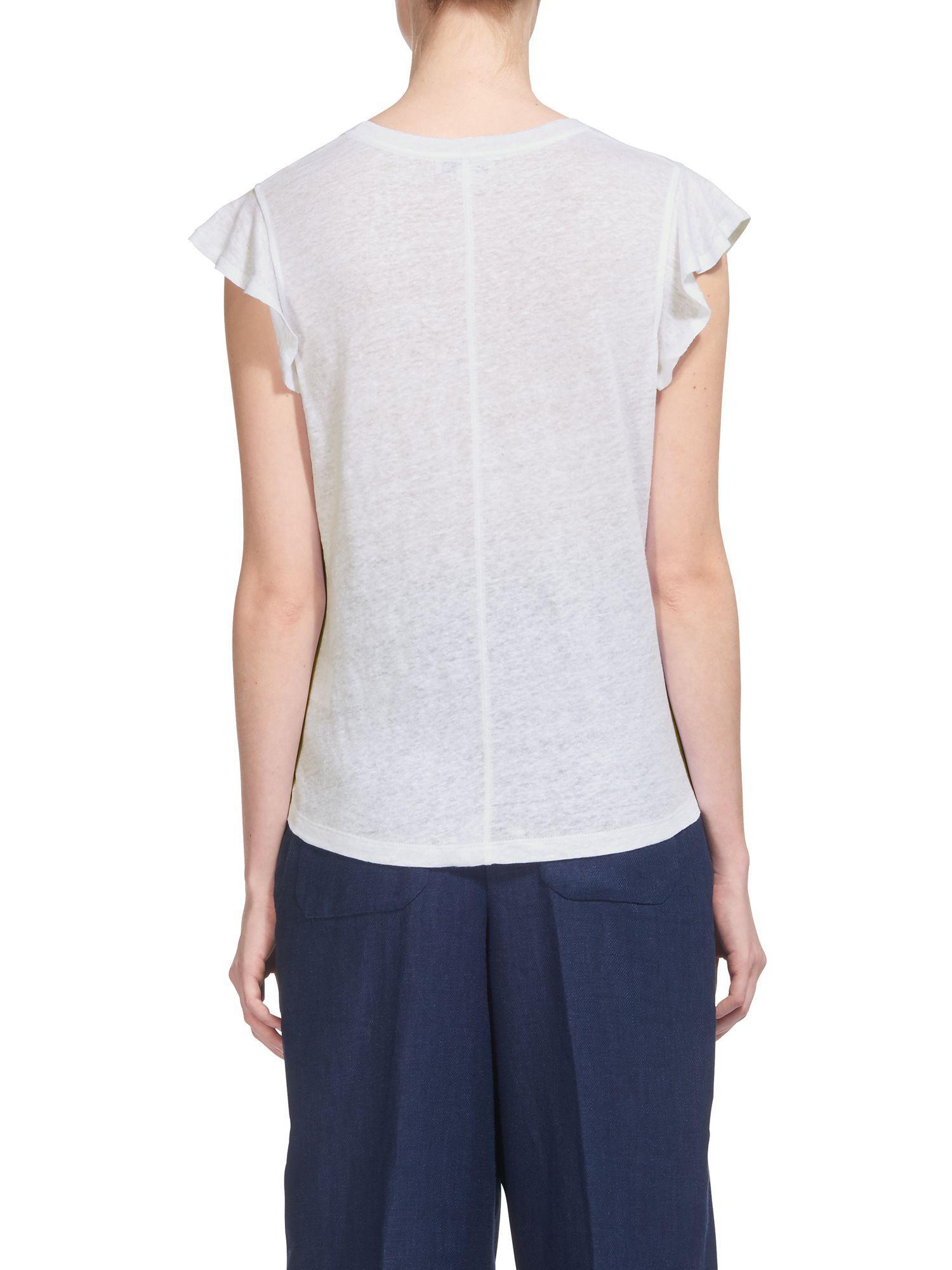 980ec822723e7 Whistles. Women s White Frill Sleeveless Linen Top. £55 £15 From John Lewis  and Partners