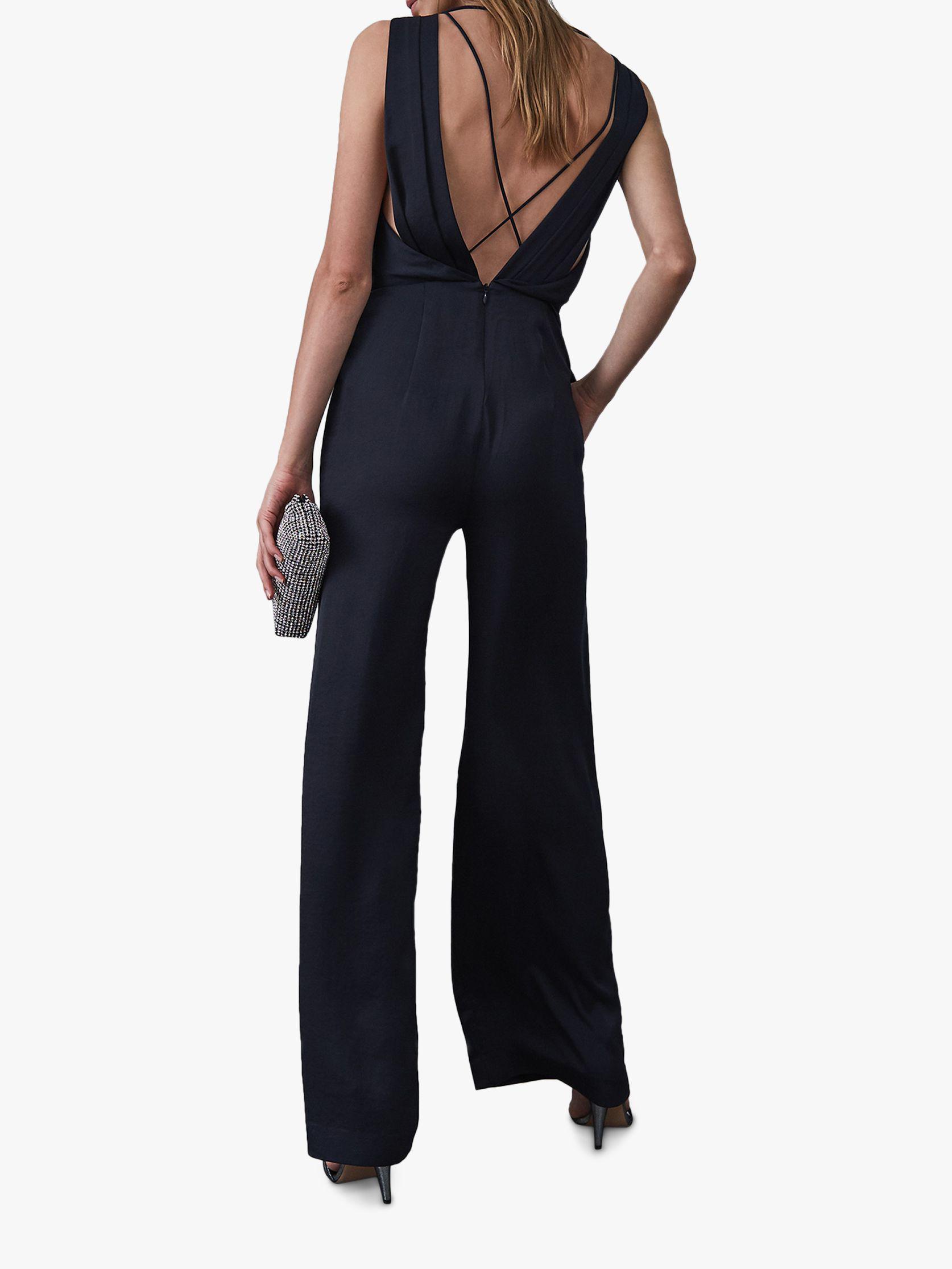 914d9057b7d Reiss Benita Draped Sleeveless Jumpsuit in Blue - Lyst