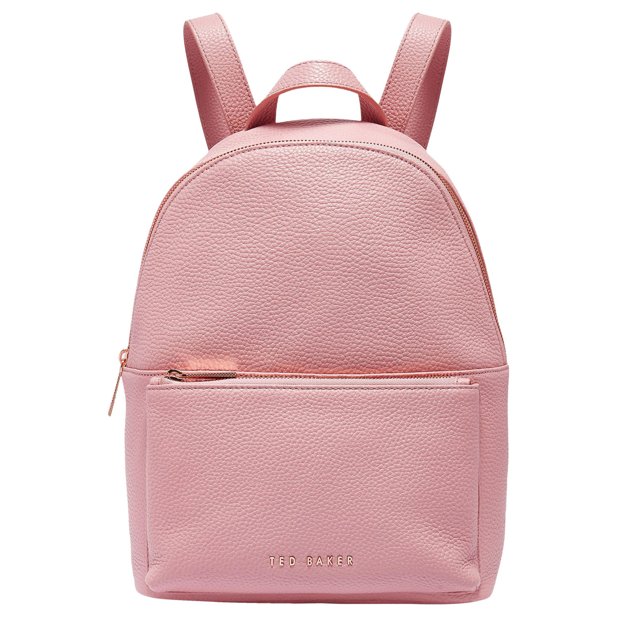 7c296d7527b0 Ted Baker Pearen Leather Backpack in Pink - Lyst