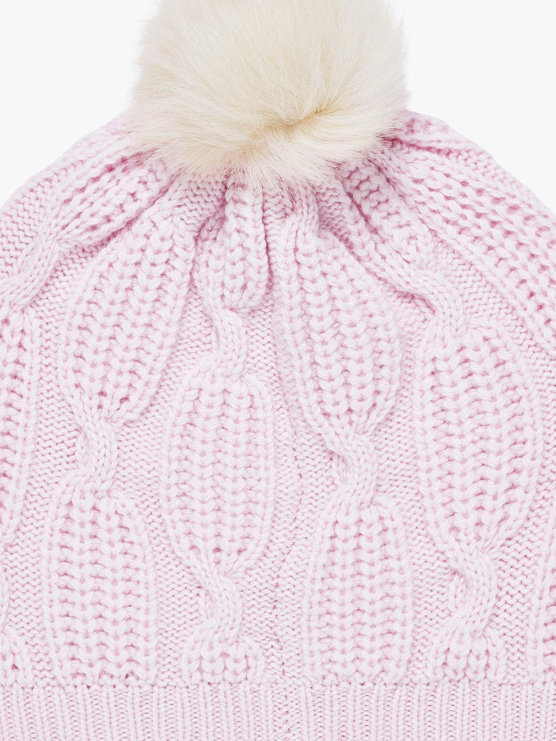 f87e51b2e1b7b2 Brora Cashmere Knit Pom-pom Beanie Hat in Pink - Lyst