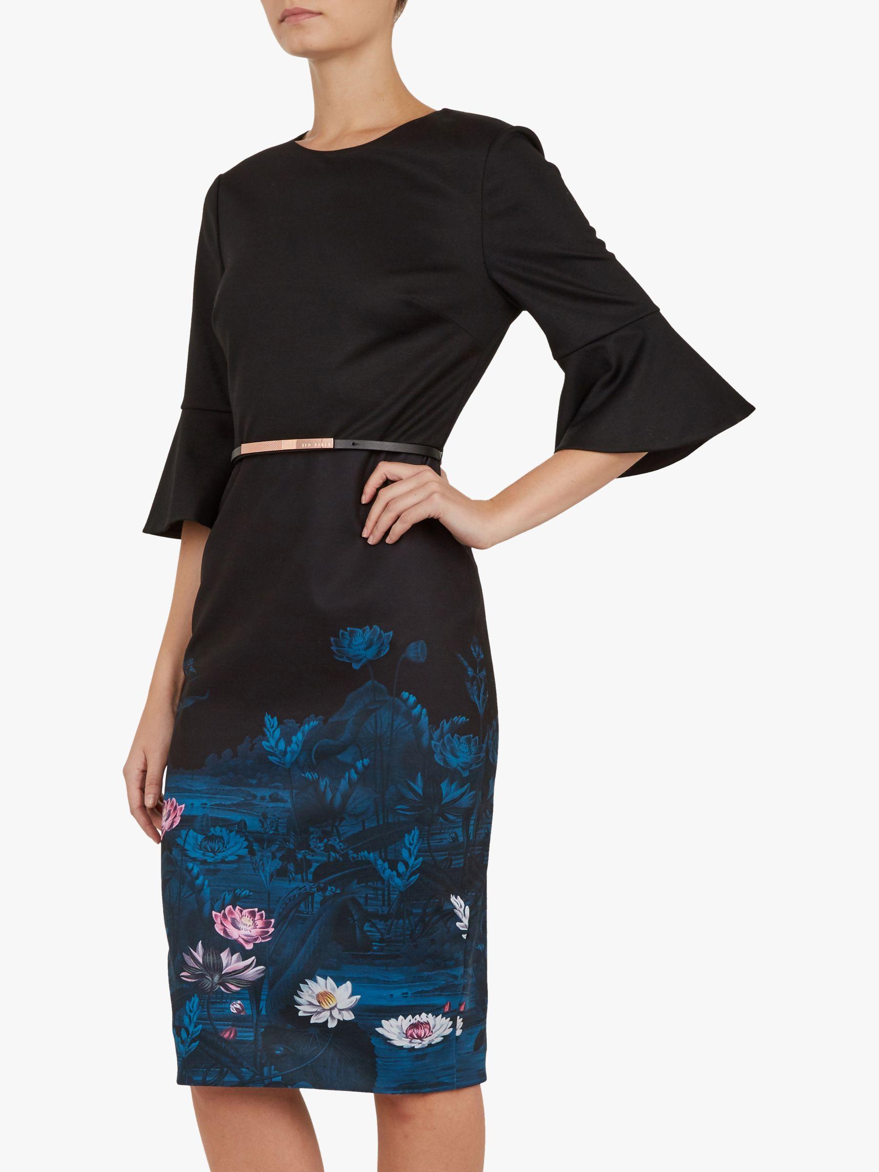 5cd777e40fa37 Ted Baker Azania Floral Pencil Dress in Blue - Lyst