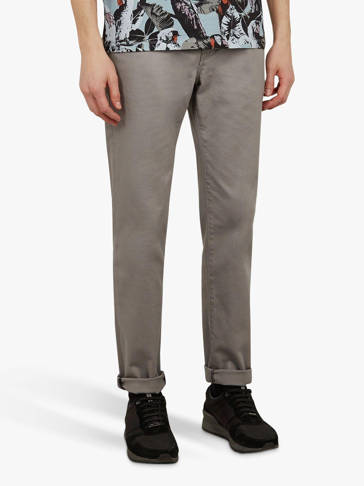 0420b3bf8c12 Ted Baker Colzza Straight Fit Jeans in Gray for Men - Lyst