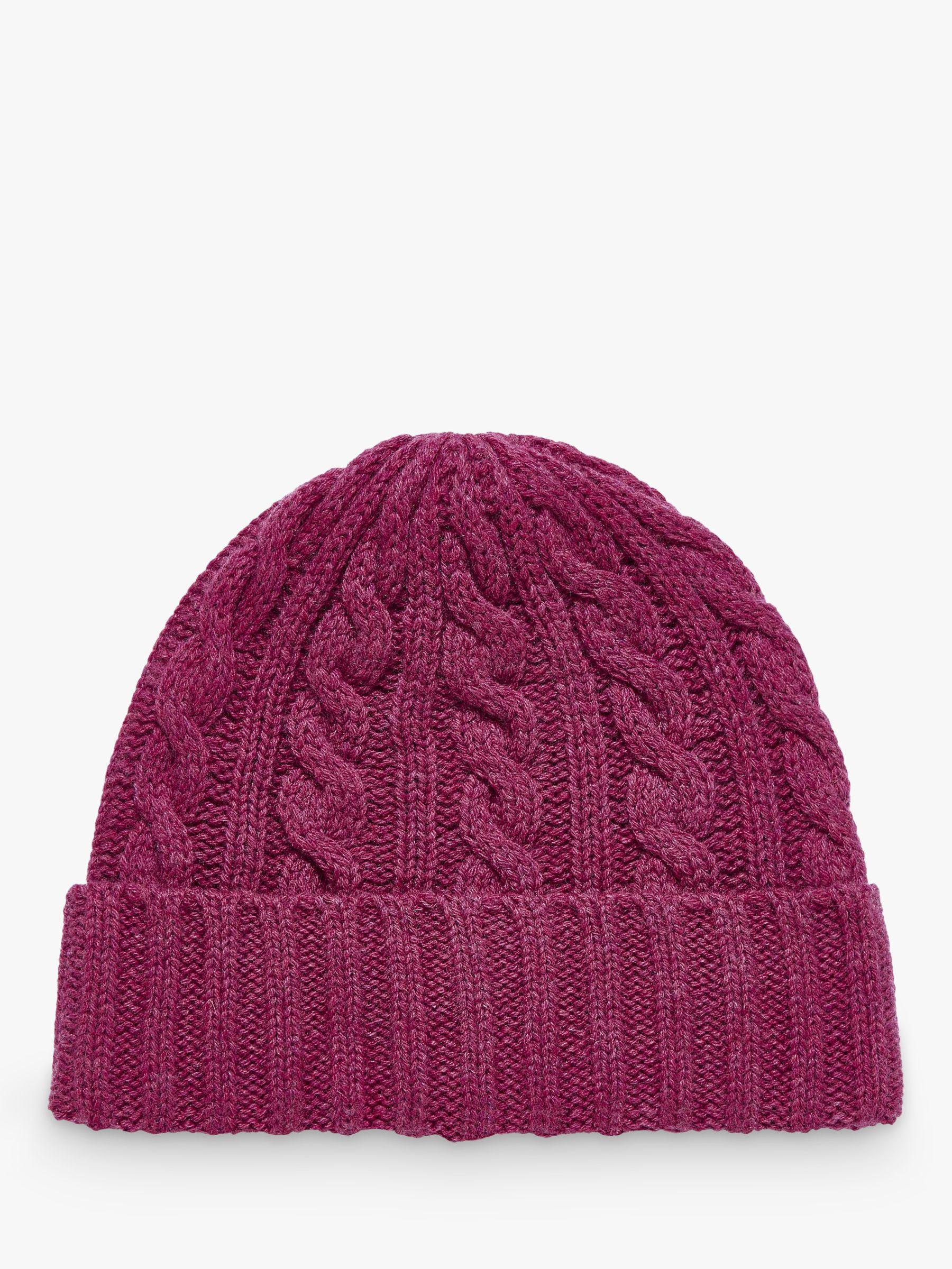 Brora - Purple Cashmere Cable Knit Hat - Lyst. View fullscreen 940065f45b65