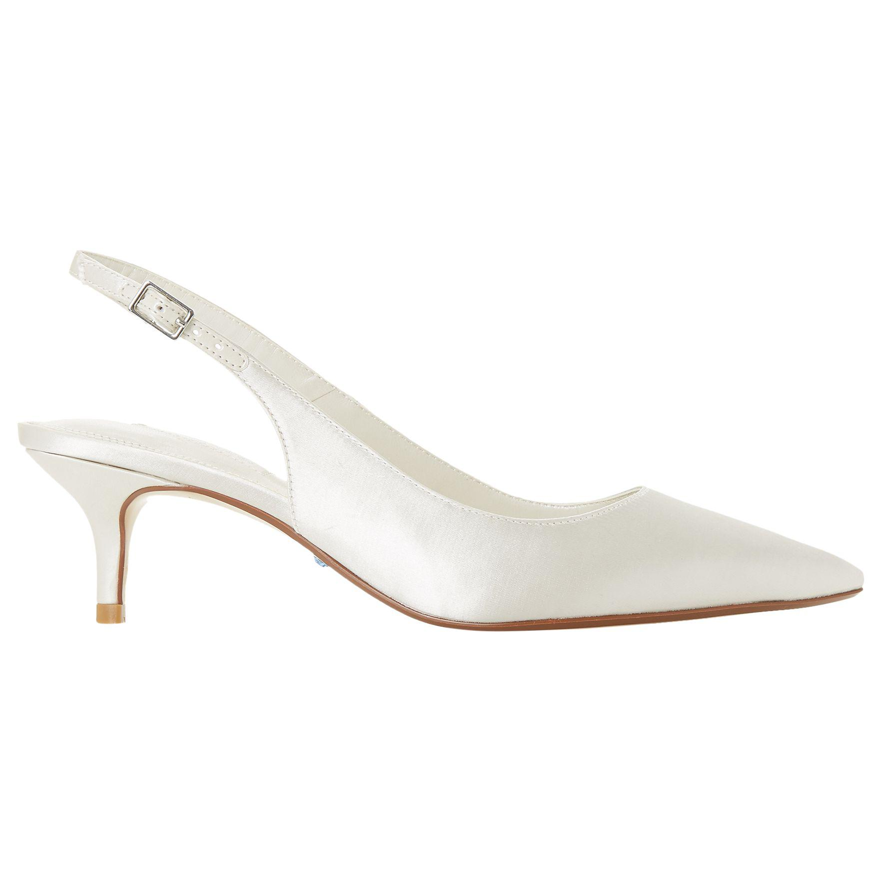 4ae2a83a52ef Dune Bridal Casandraa Kitten Heel Slingback Court Shoes in White - Lyst
