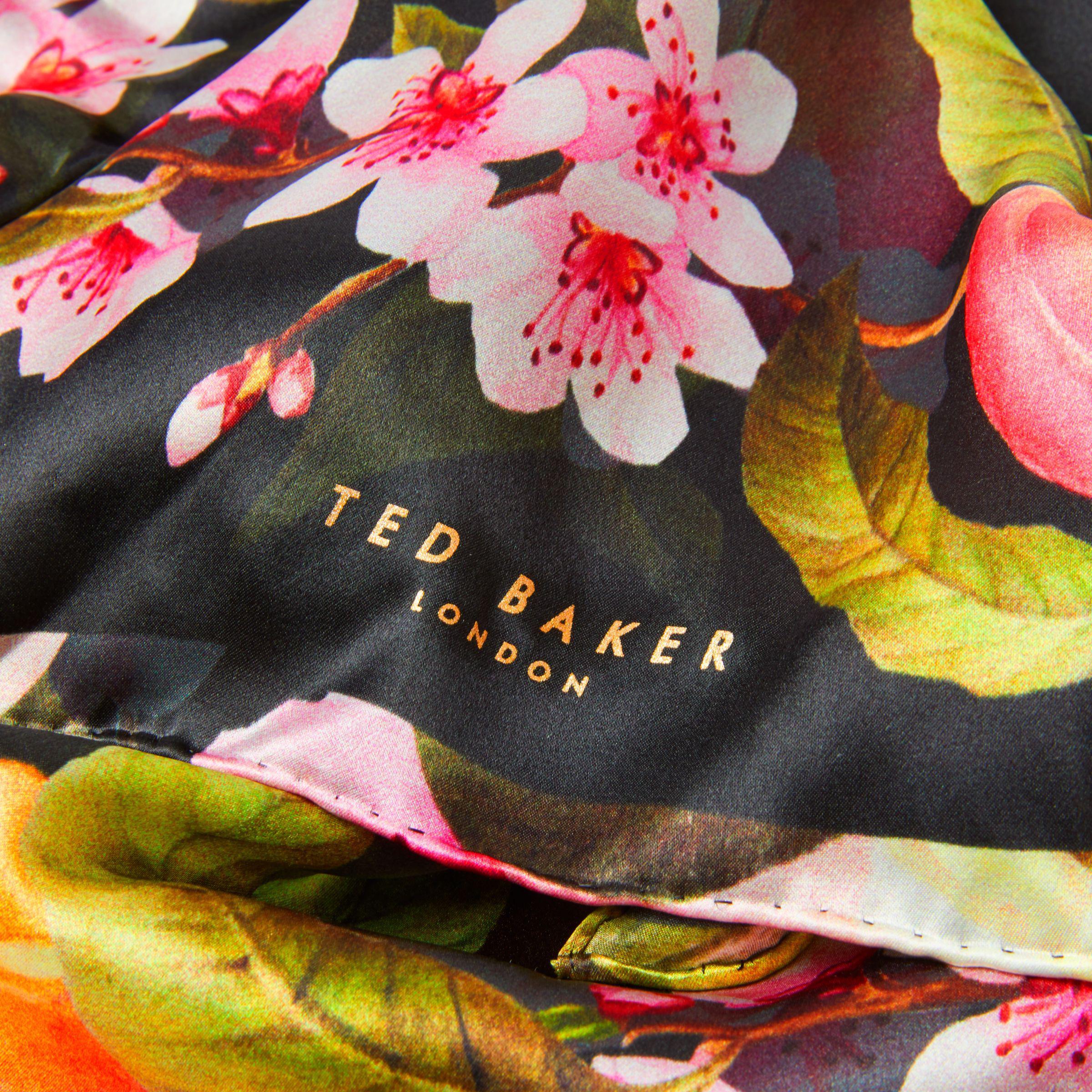 John lewis ted baker primula peach blossom silk scarf in black lyst gallery mightylinksfo