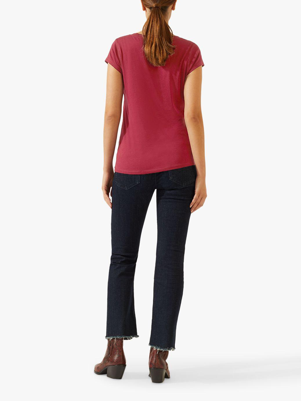 e869672891dc3f Jigsaw Pima Cotton Blend T-shirt in Red - Lyst