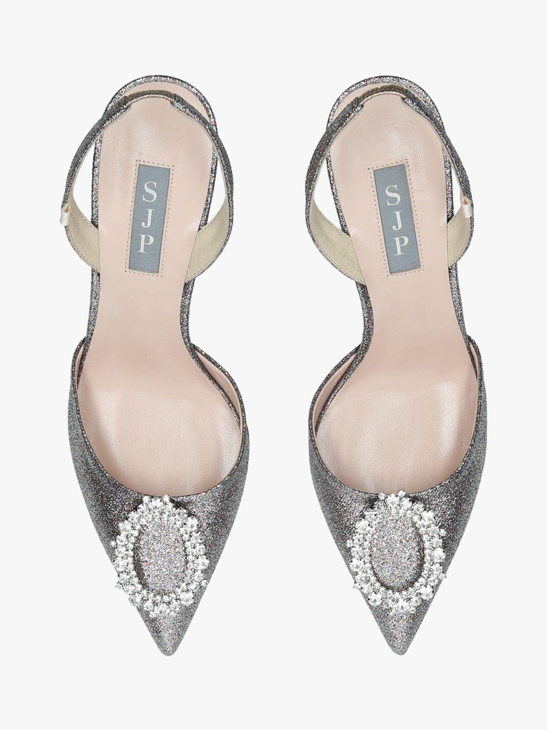 823645bdb51 SJP by Sarah Jessica Parker - Metallic Mabel Slingback Court Shoes - Lyst.  View fullscreen