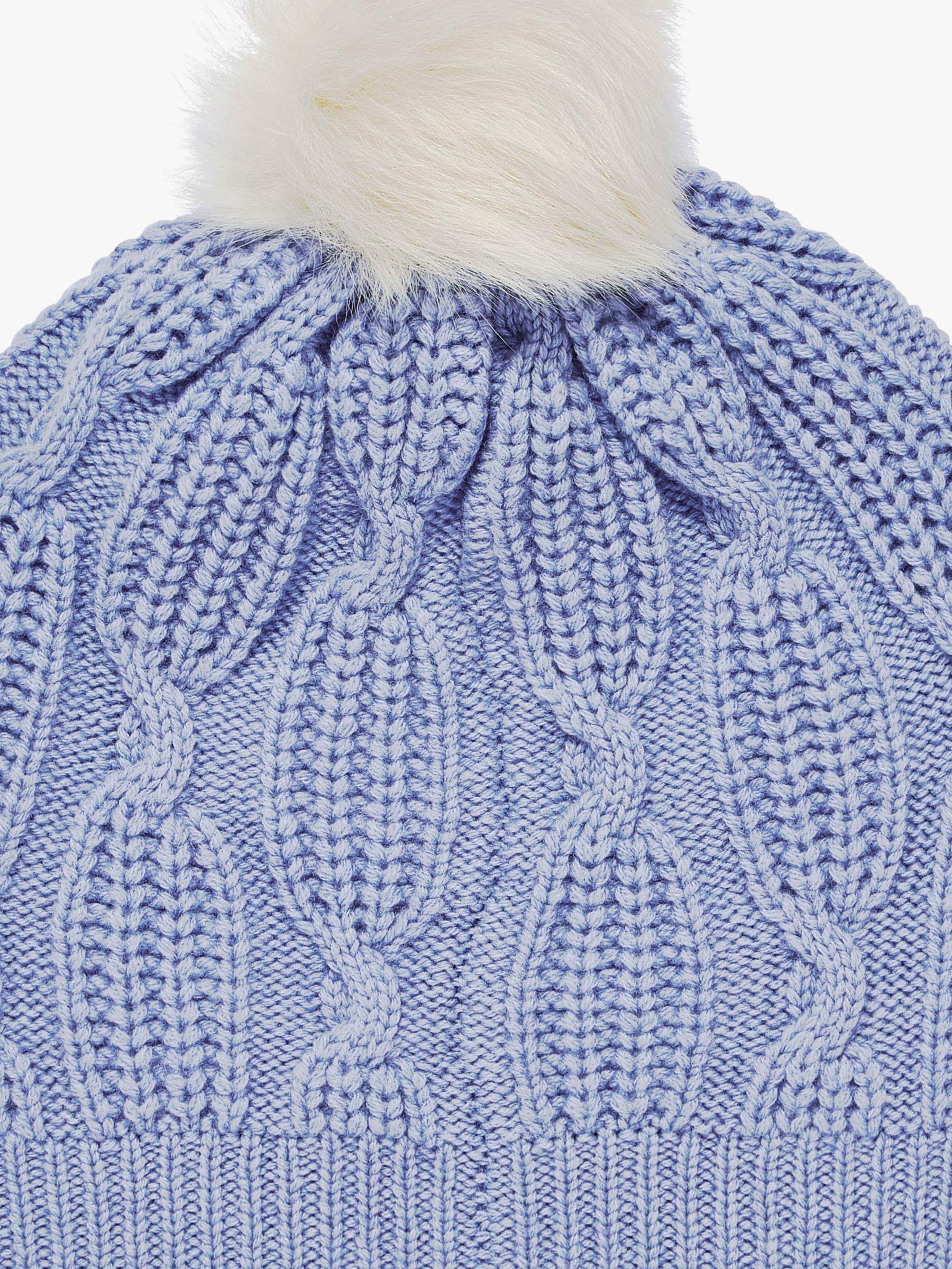 f64b6dcc5194ca Brora Cashmere Knit Pom-pom Beanie Hat in Blue - Lyst