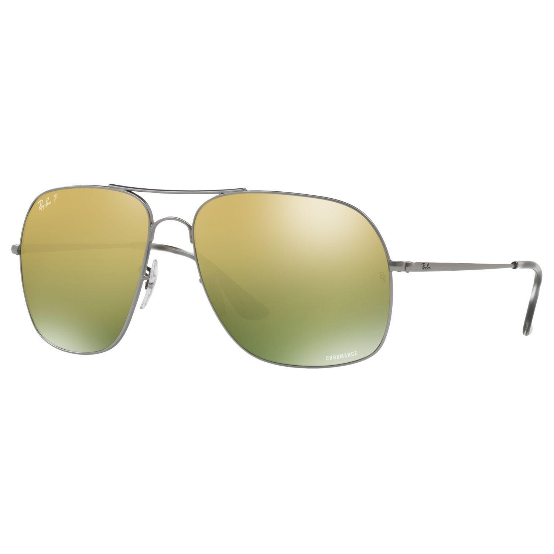 c10e44948df Ray-Ban Rb3587ch Men s Chromance Polarised Square Sunglasses in ...