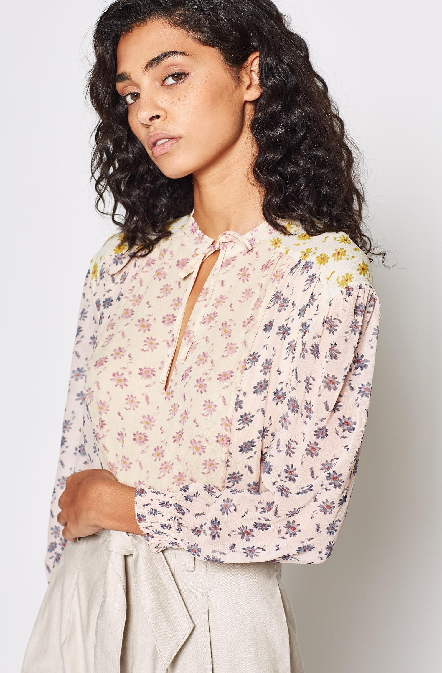 67d37268cfe62 Joie Tyla Silk Floral Top - Lyst