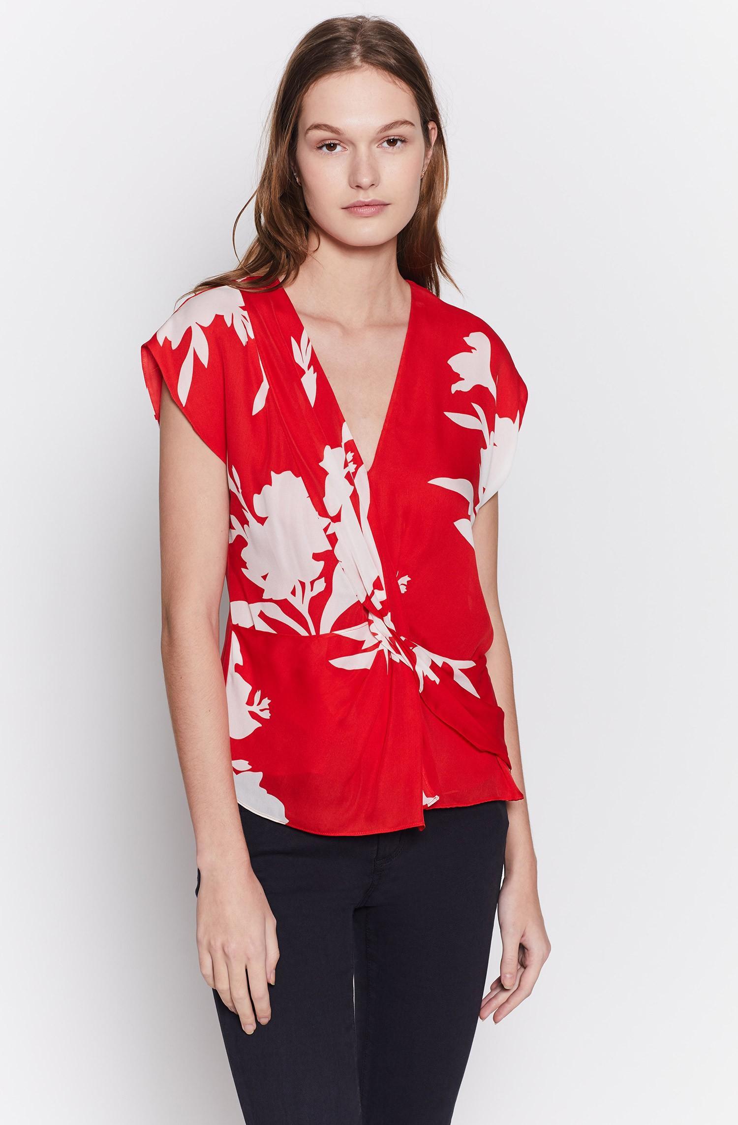 14fc943fac7fc Lyst - Joie Bosko Silk Top in Red