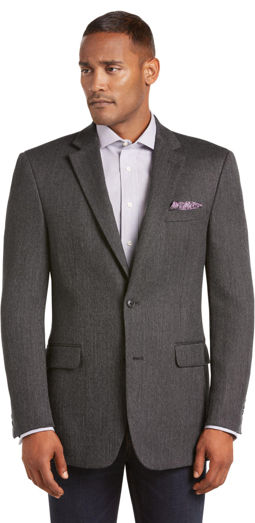 e31bda5d2 Lyst - Jos. A. Bank Executive Collection Traditional Fit Herringbone ...