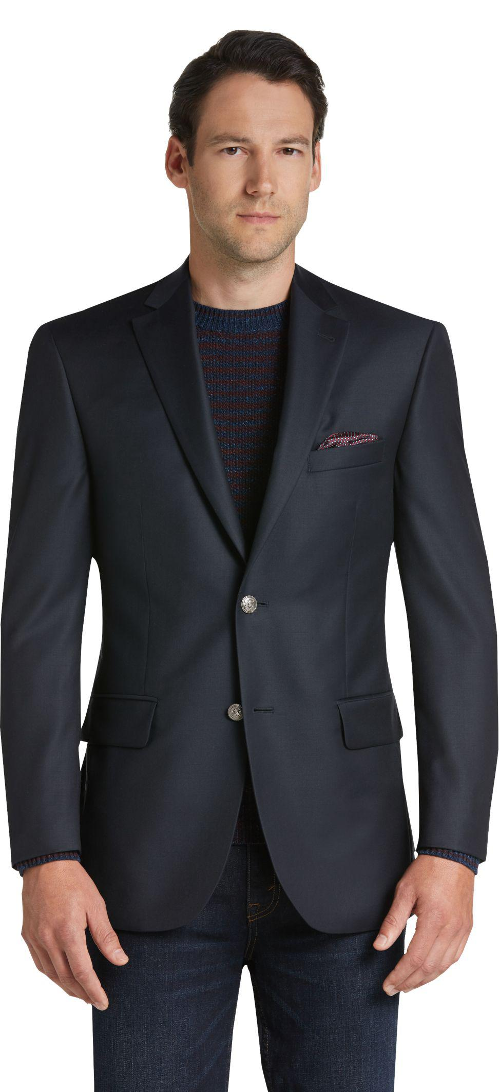 Jos a bank reserve collection tailored fit blazer in for Jos a bank tailored fit vs slim fit shirts