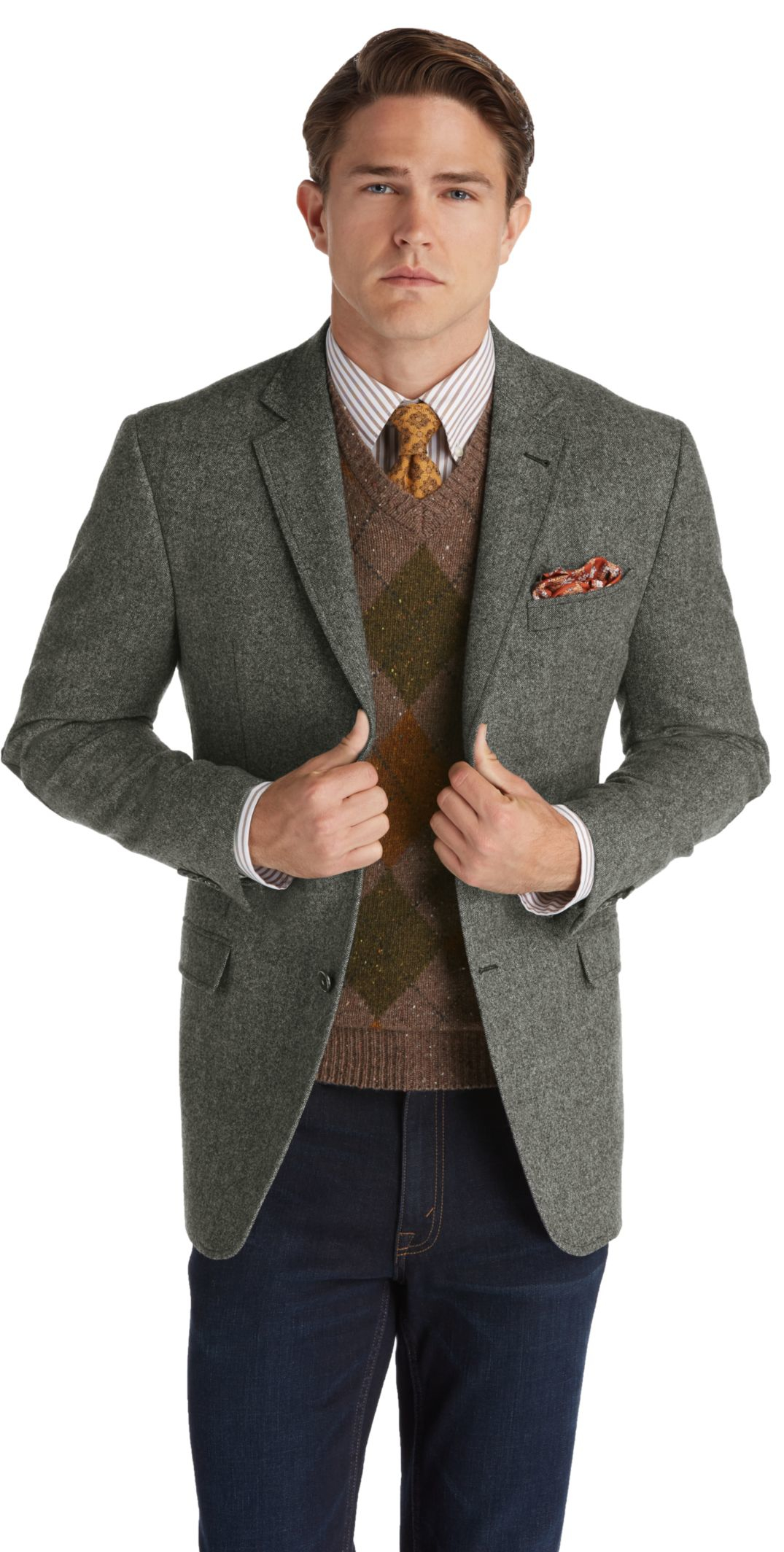 jos a bank 1905 tailored fit 2 button sportcoat big and