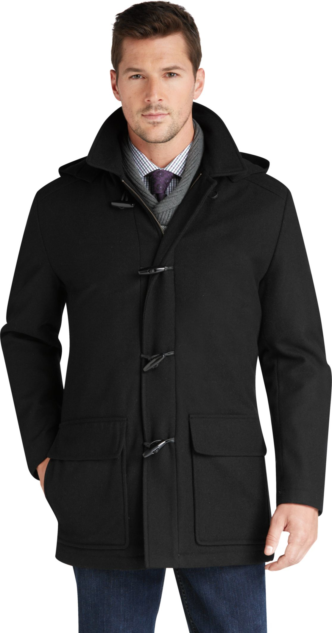 jos a bank traditional fit 3 4 length duffle coat in
