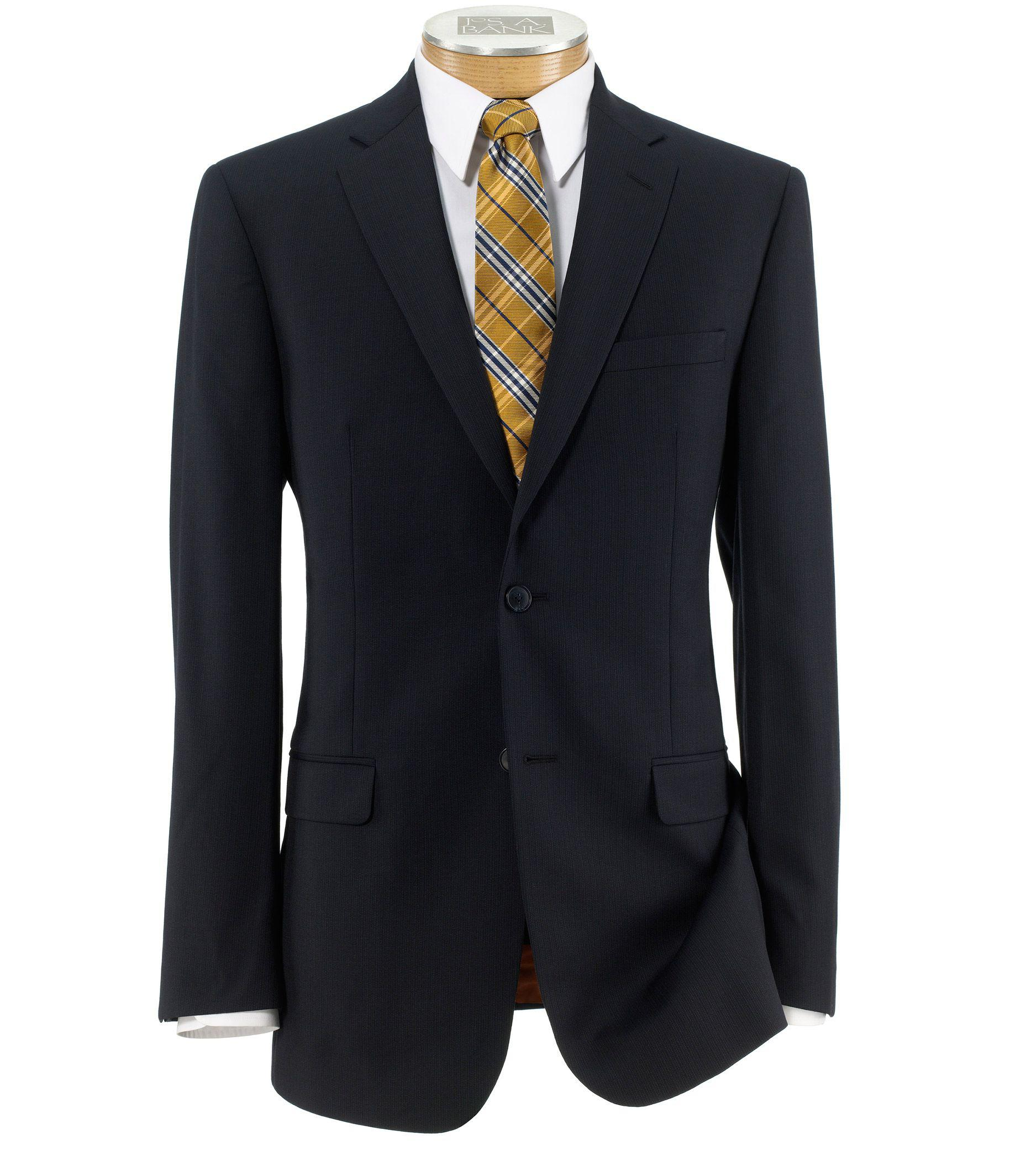 Jos a bank joseph slim fit 2 button suits with plain for Jos a bank tailored fit vs slim fit shirts