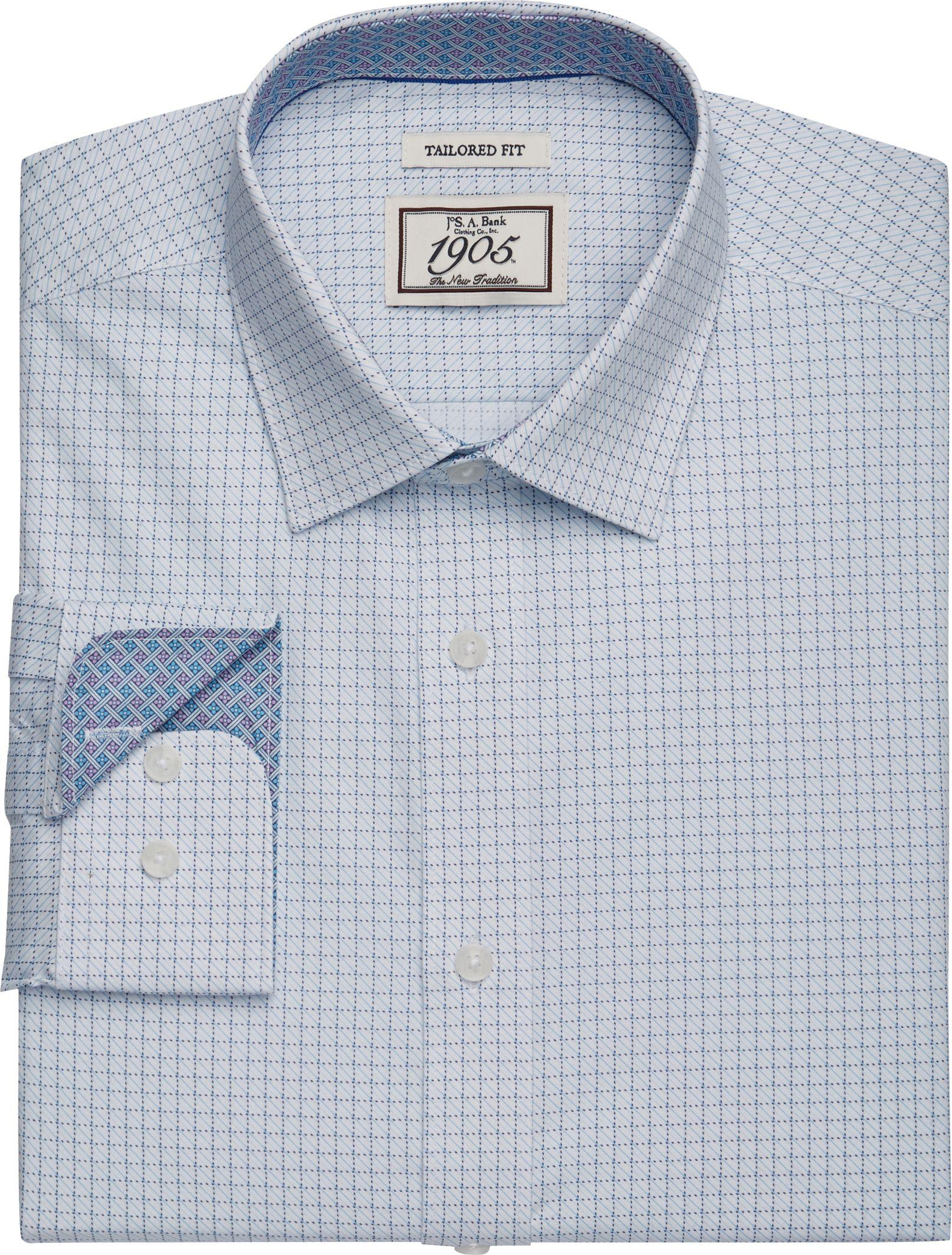 Lyst Jos A Bank 1905 Collection Tailored Fit Spread Collar Grid