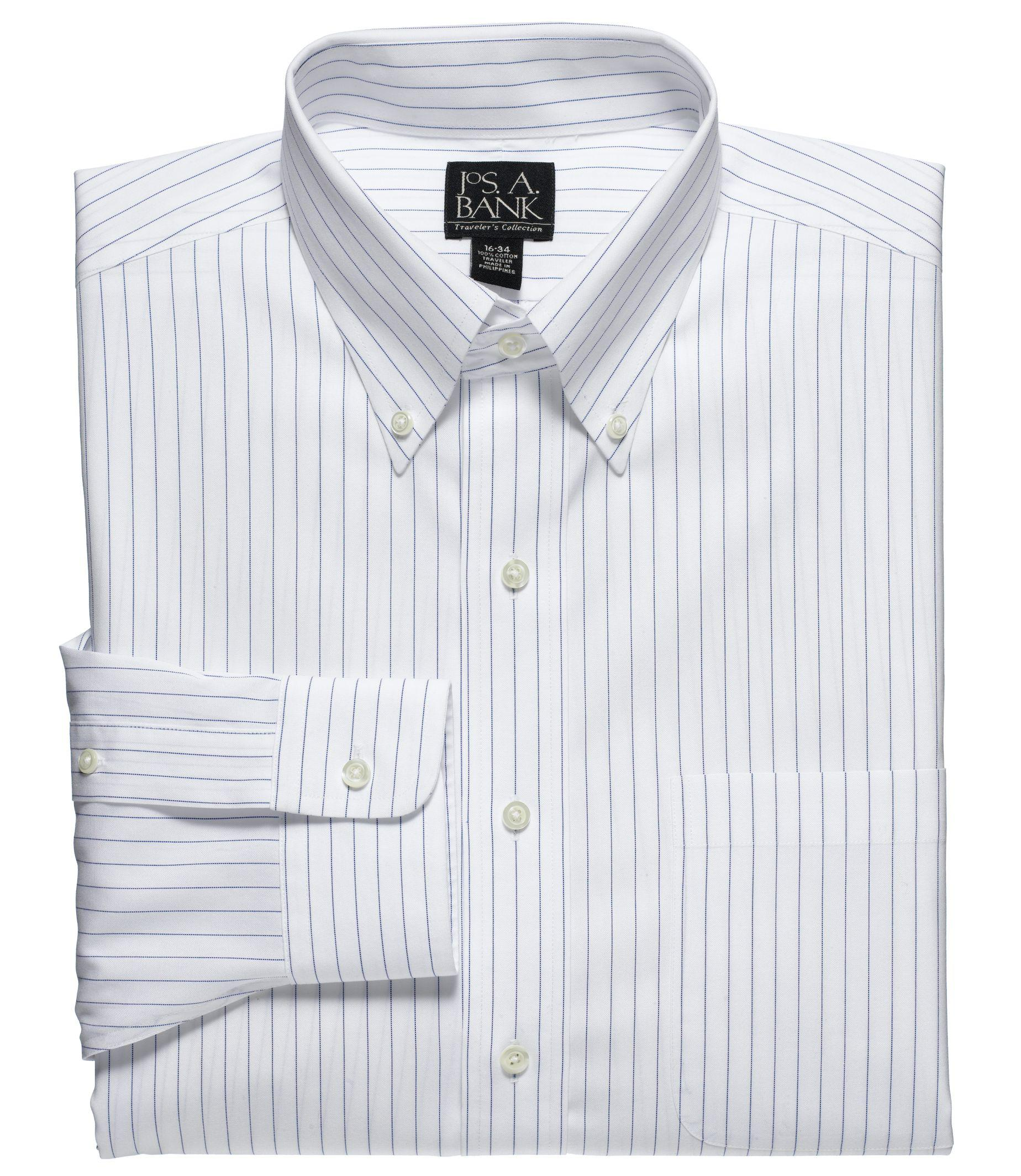 Lyst jos a bank traveler collection traditional fit for Joseph banks dress shirts