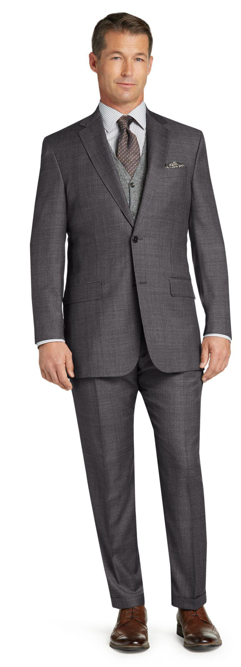 85dea108868 Lyst - Jos. A. Bank Signature Gold Collection Traditional Fit Plaid ...
