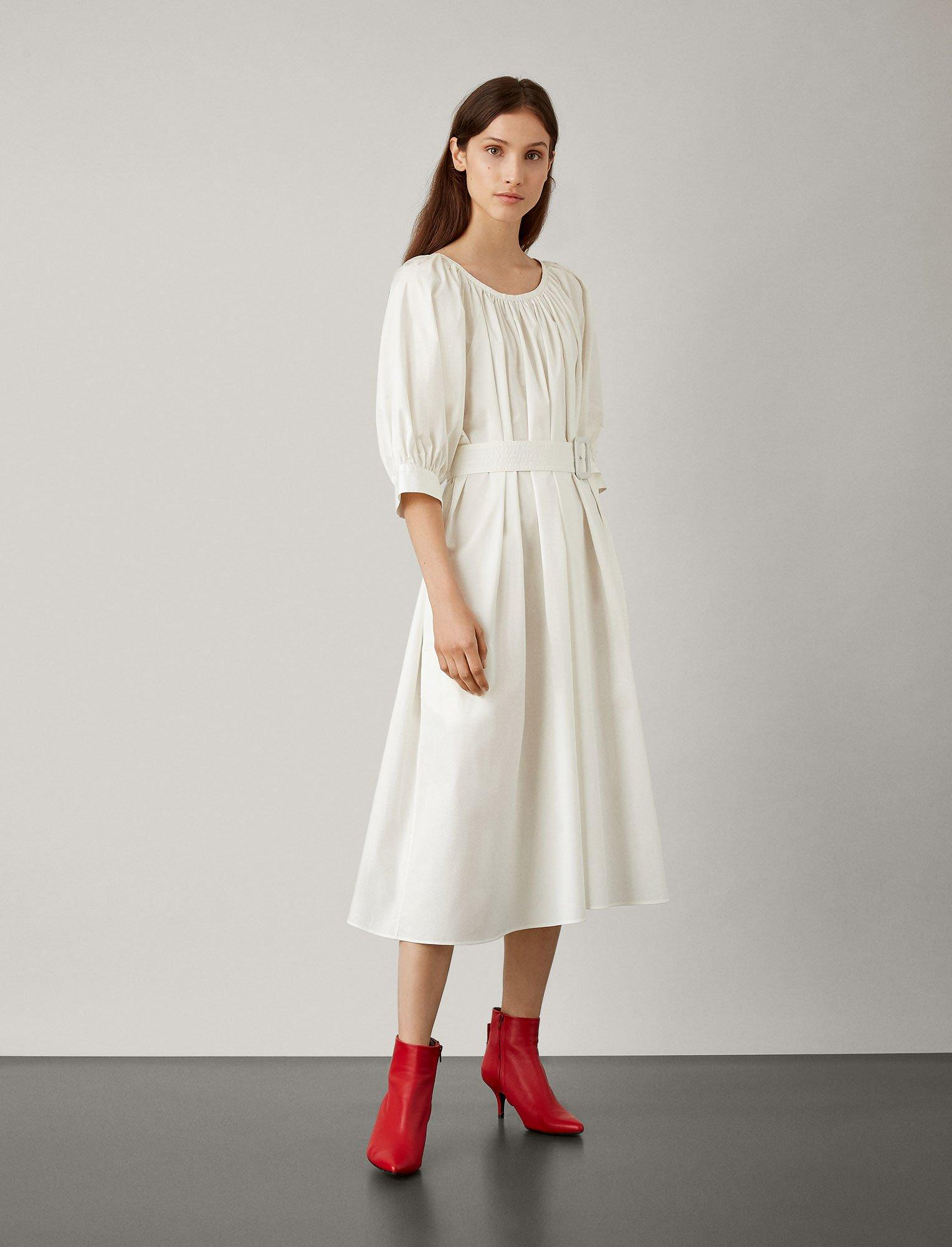 e43053cae16686 ... White Shan Cotton Dress - Lyst. Visit JOSEPH. Tap to visit site