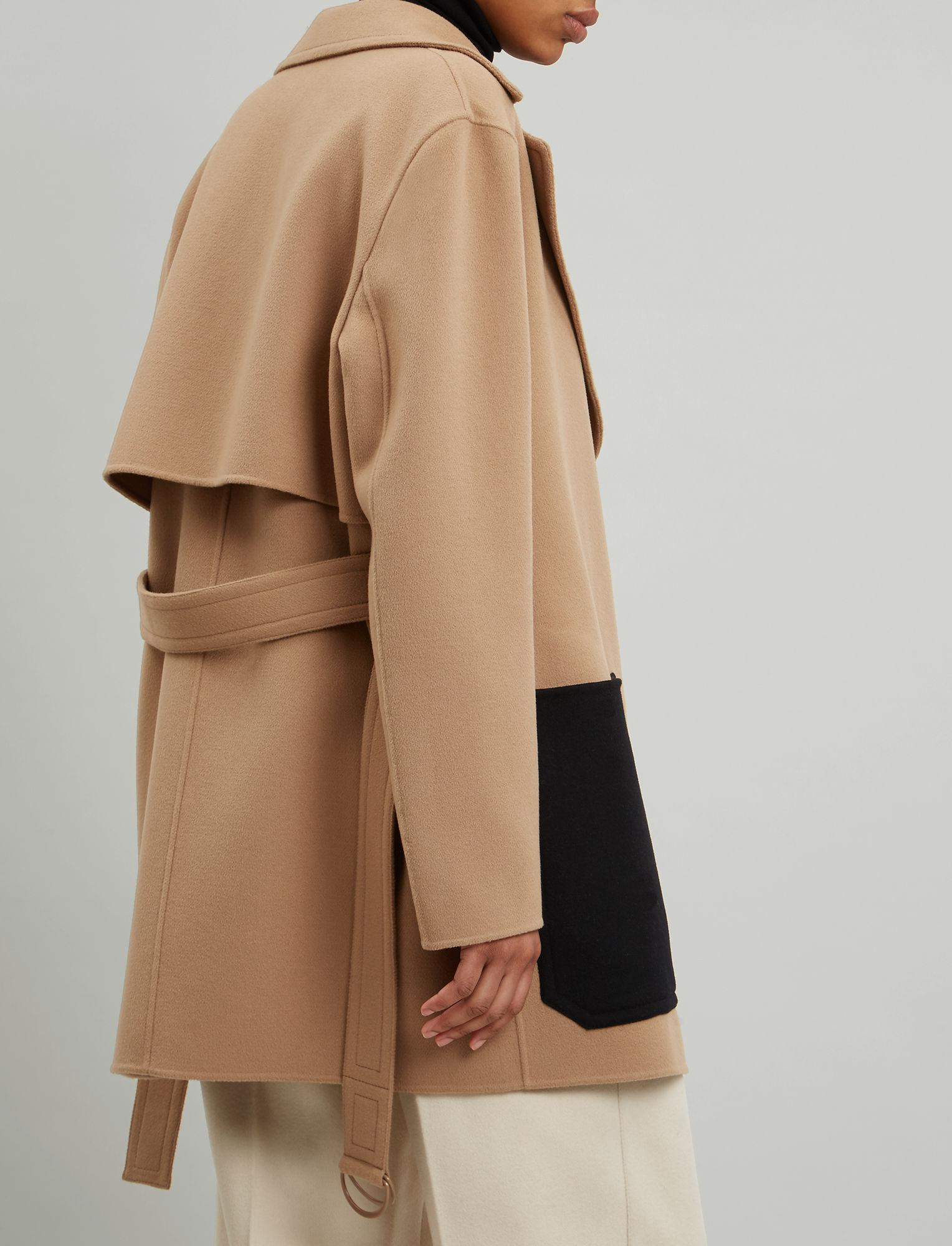3512f74f24f JOSEPH Marcus Short Luxe Double Wool Coat in Natural - Lyst