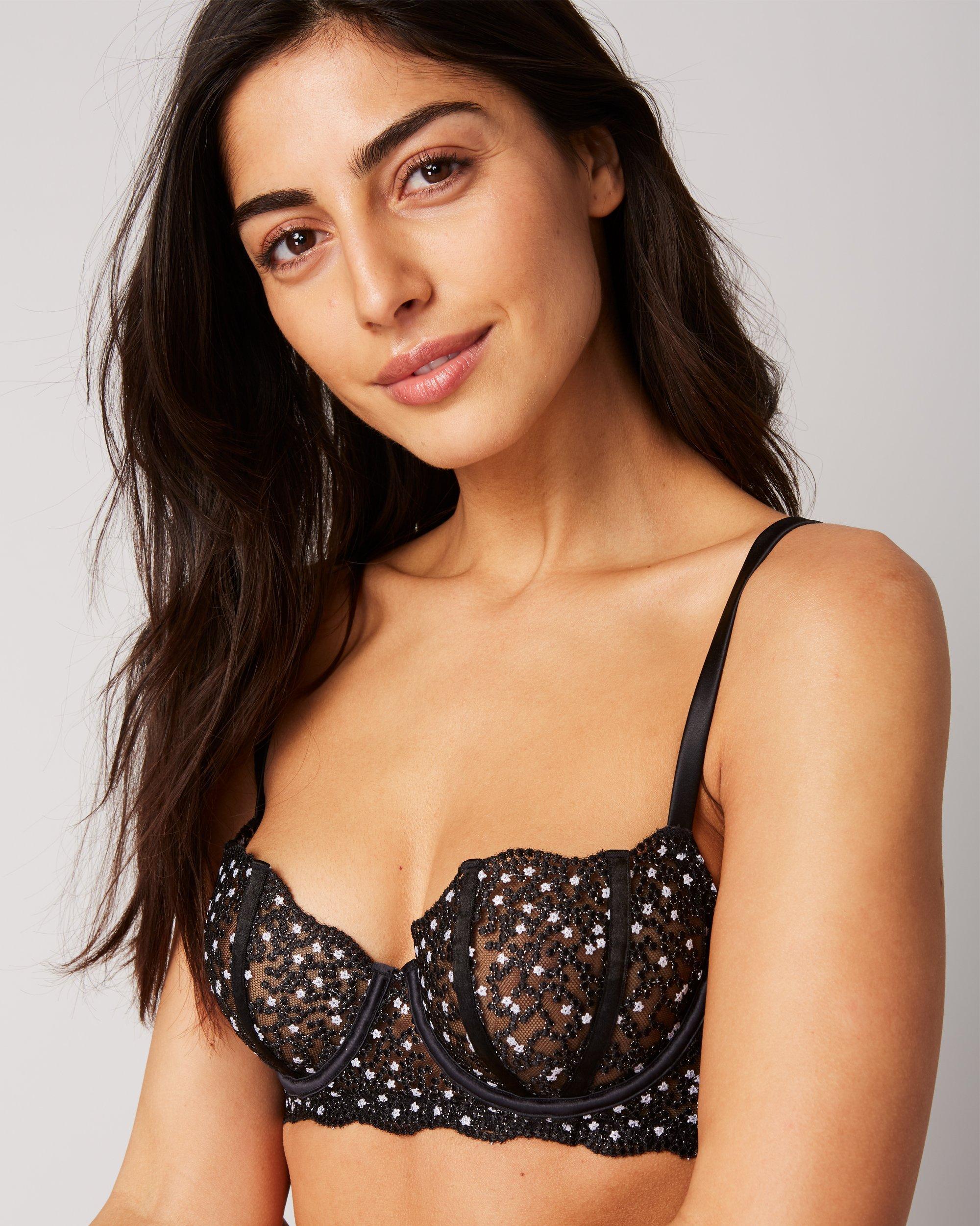 11990f7d8e47f Lyst - Coco De Mer Playboy Tease Me Balcony Bra in Black