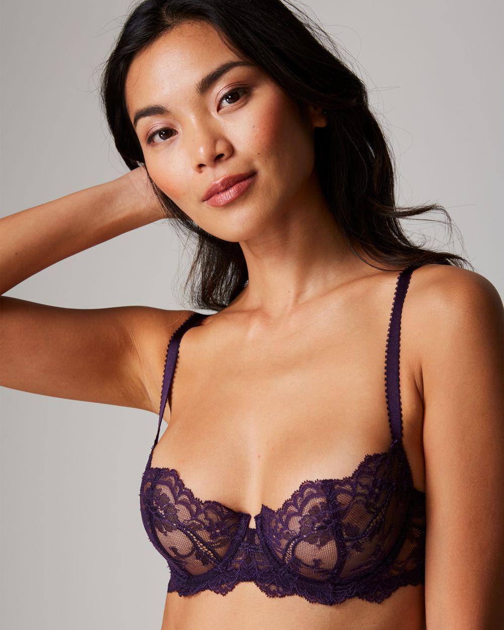 221f38698c5a0 Lyst - Journelle Anais Low Balconette Bra in Purple