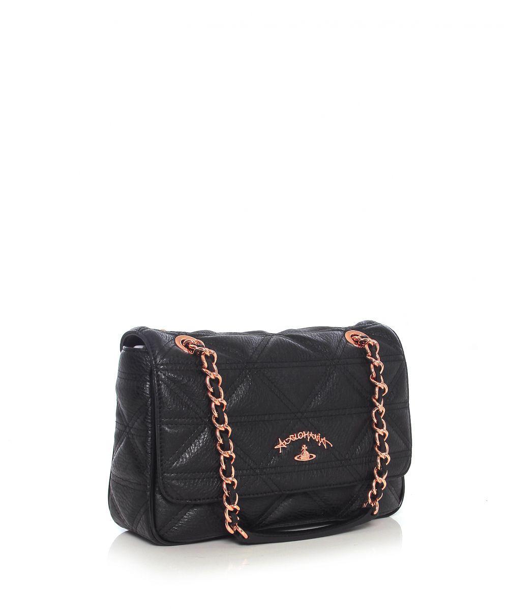 5dc7f88c5c59 Vivienne Westwood Sharlenemania Shoulder Bag in Black - Lyst