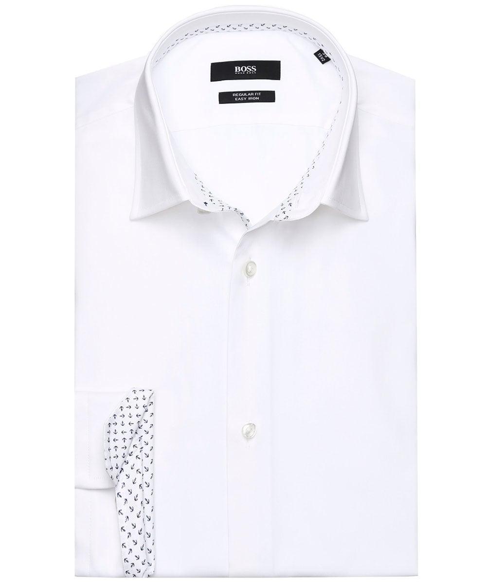 4f34e6c0 BOSS Regular Fit Gelson Shirt in White for Men - Lyst