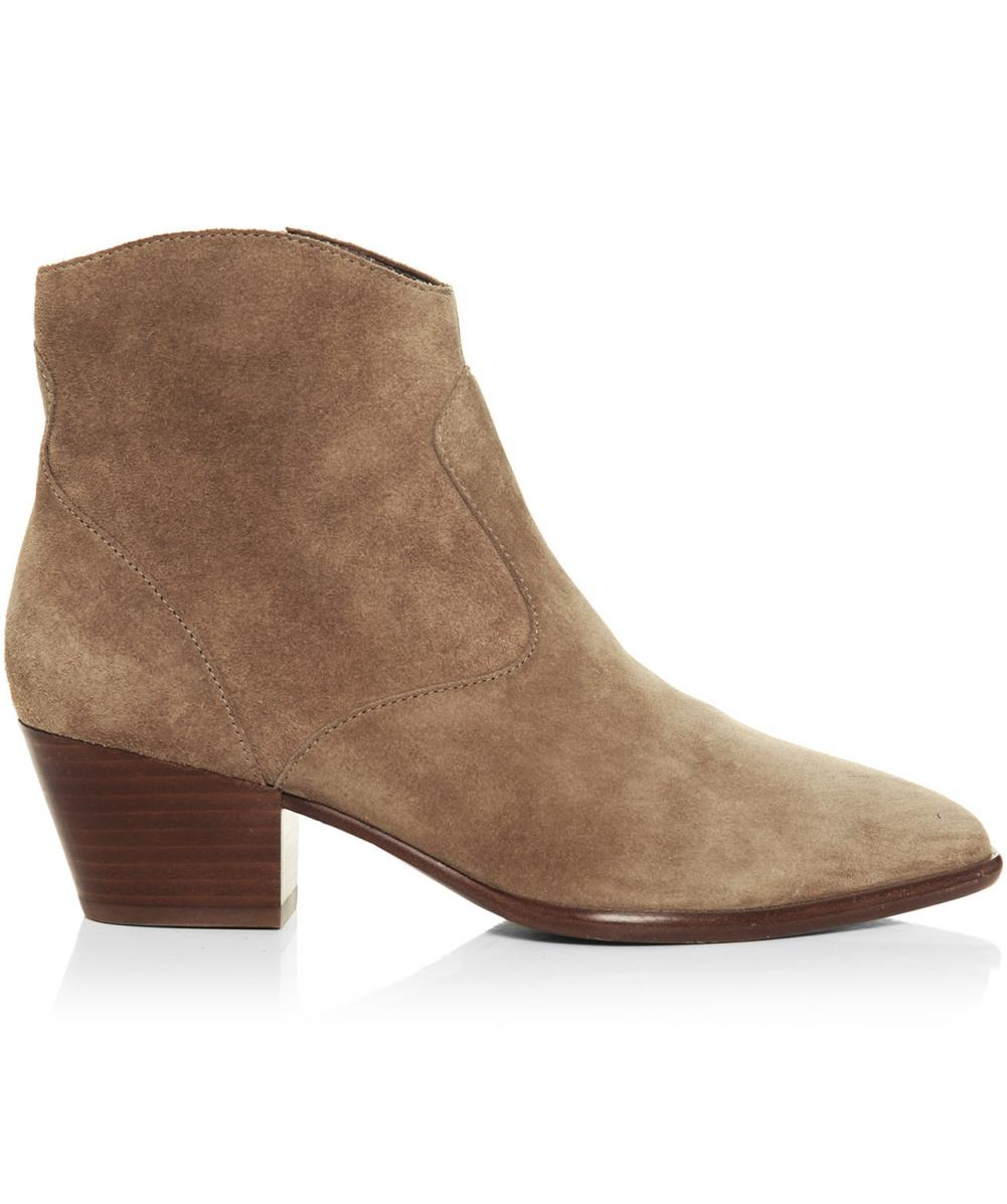 1f5f3ed3de39c Lyst - Ash Heidi Baby Soft Suede Ankle Boots in Natural