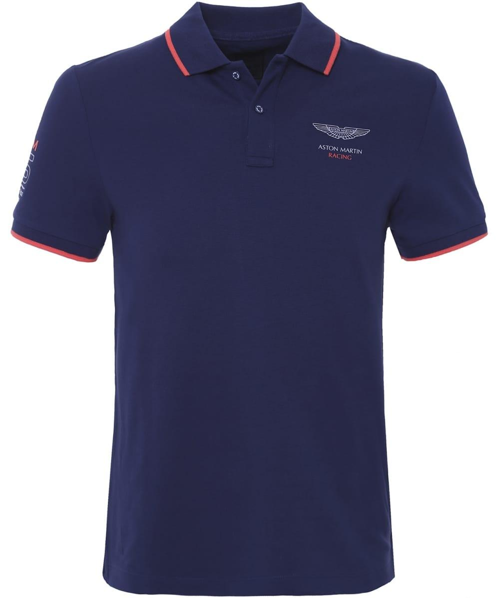 hackett aston martin racing polo shirt in blue for men lyst. Black Bedroom Furniture Sets. Home Design Ideas
