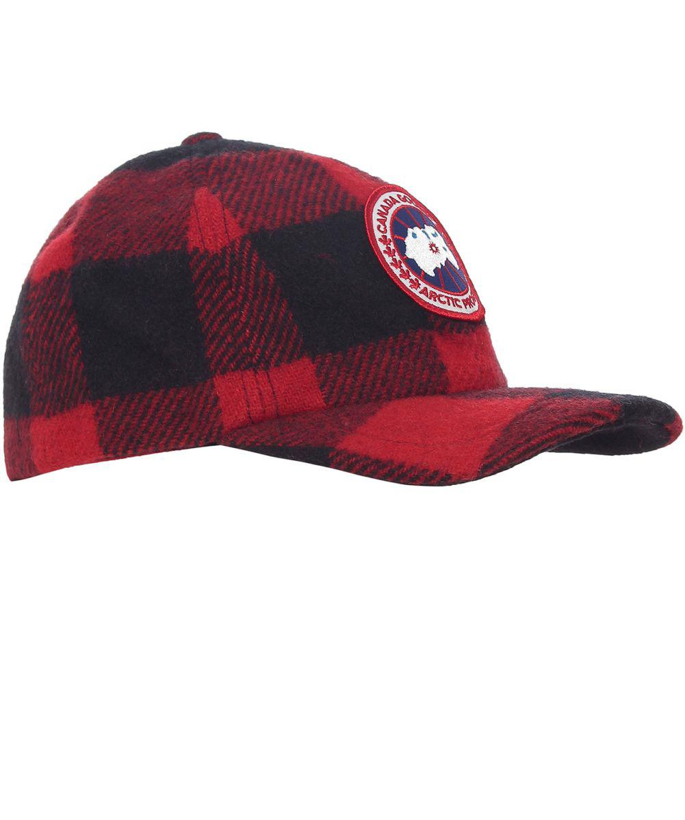 7bada9ee84b Canada Goose Wool Buffalo Check Cap in Red for Men - Lyst