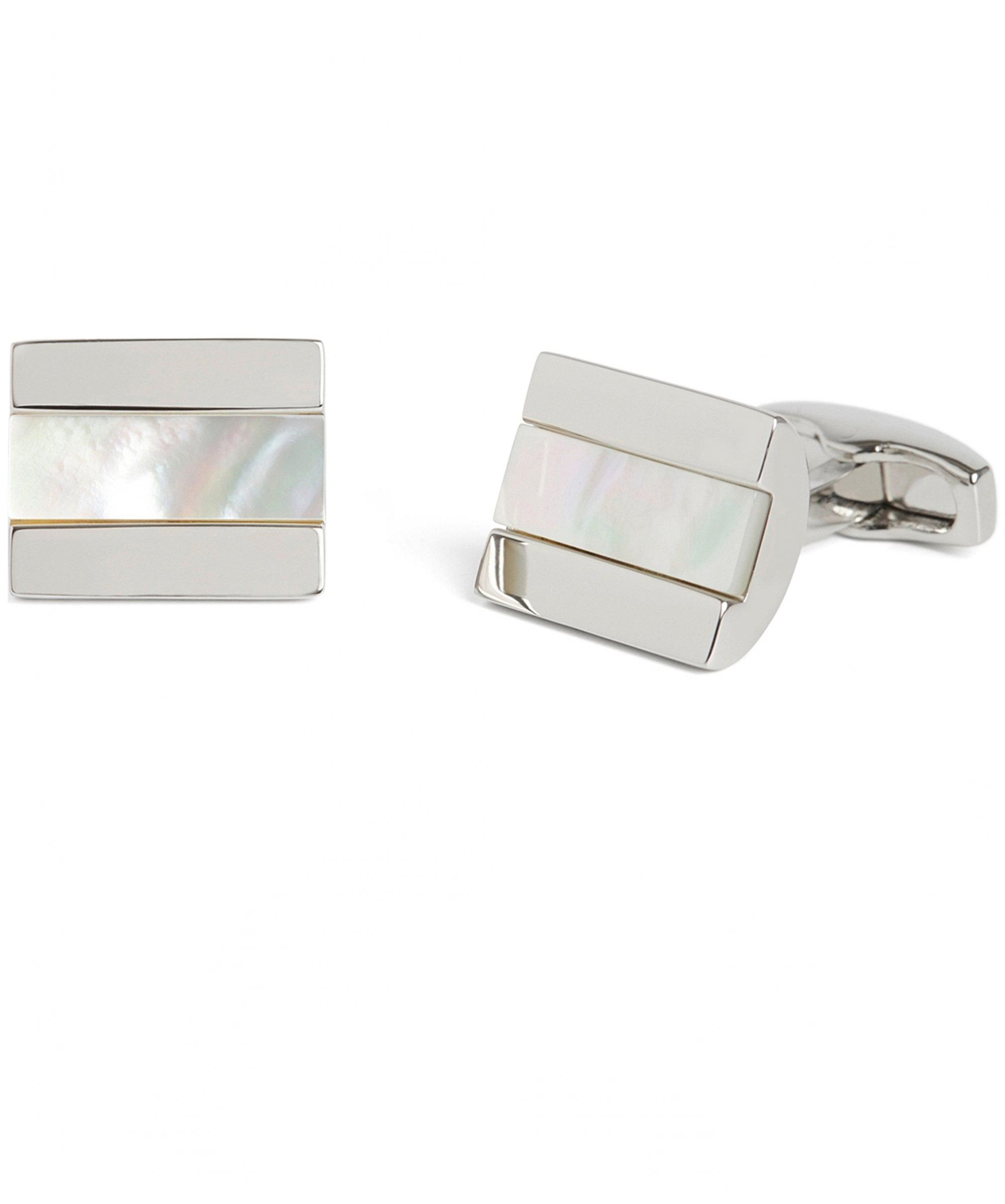 0fd6db45e Simon Carter Chunky Half Barrel Cufflinks in White for Men - Lyst