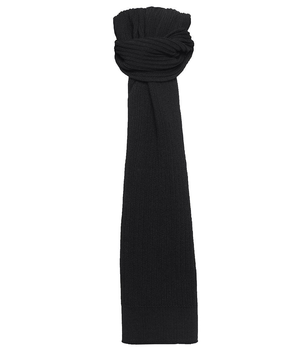 Lyst - Hugo Virgin Wool Zappon Scarf in Black aaef0336dc3ce