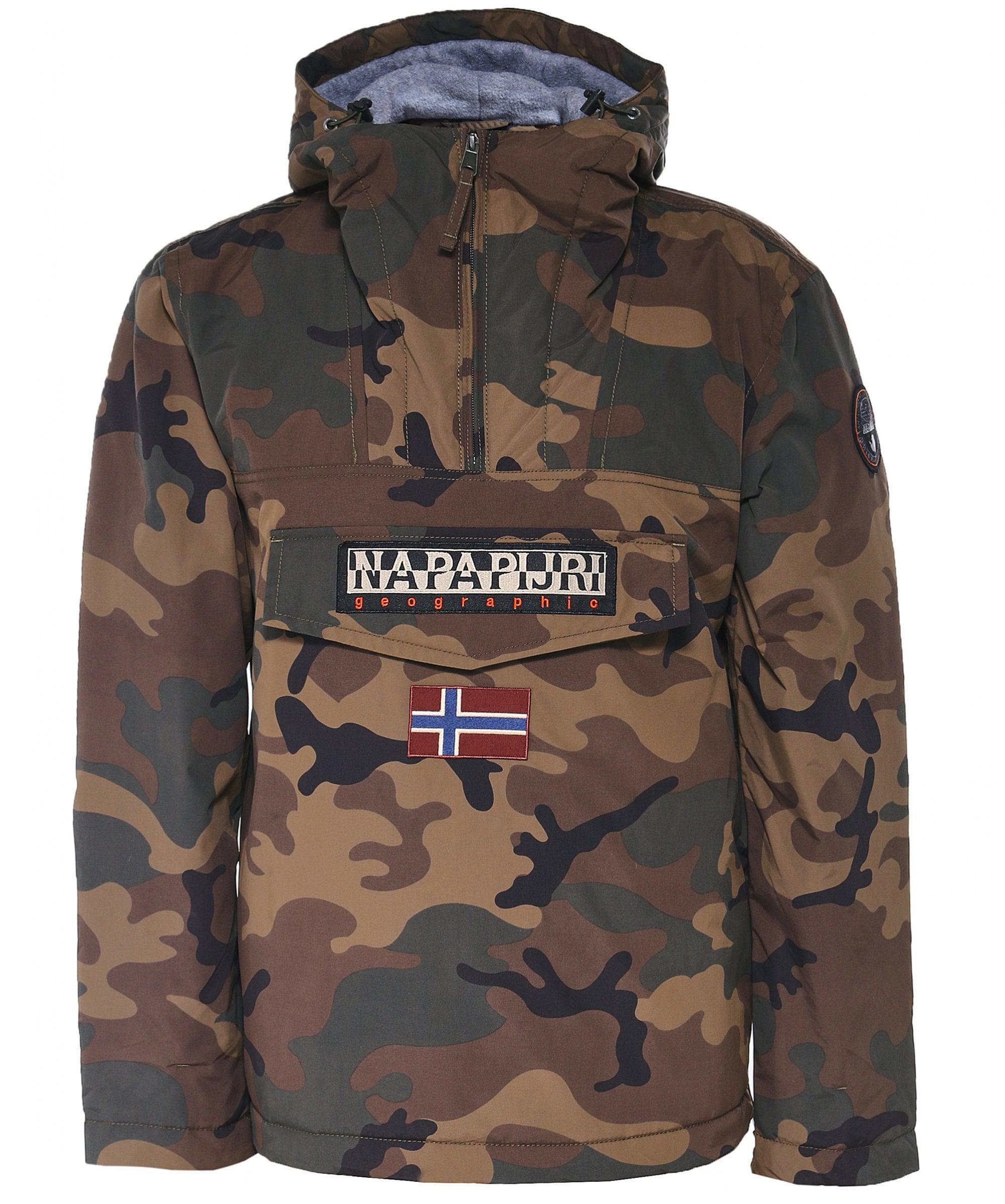 6b5d2ee692244 Napapijri Waterproof Rainforest Camouflage Jacket for Men - Lyst