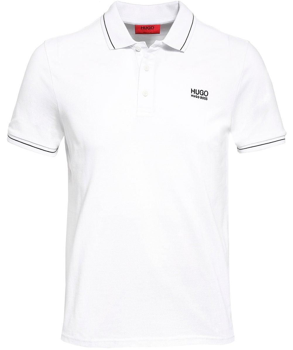 1c522ed7 Lyst - HUGO Regular Fit Tipped Daruso Polo Shirt in White for Men