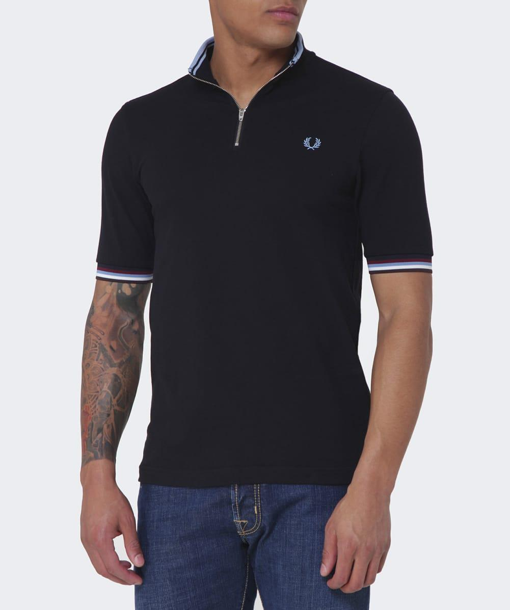 Fred perry bradley wiggins twin tipped cycling shirt in black jpg 1001x1197 Fred  perry cycling a93a710d7