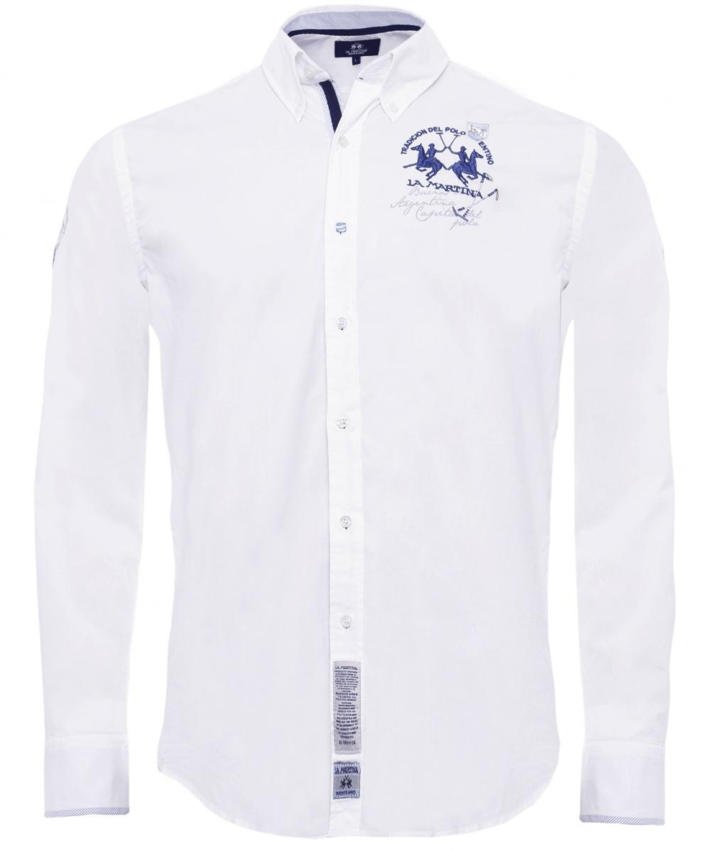 Lyst - La Martina Regular Fit Humphry Shirt in White for Men b3ce4fbc3ae