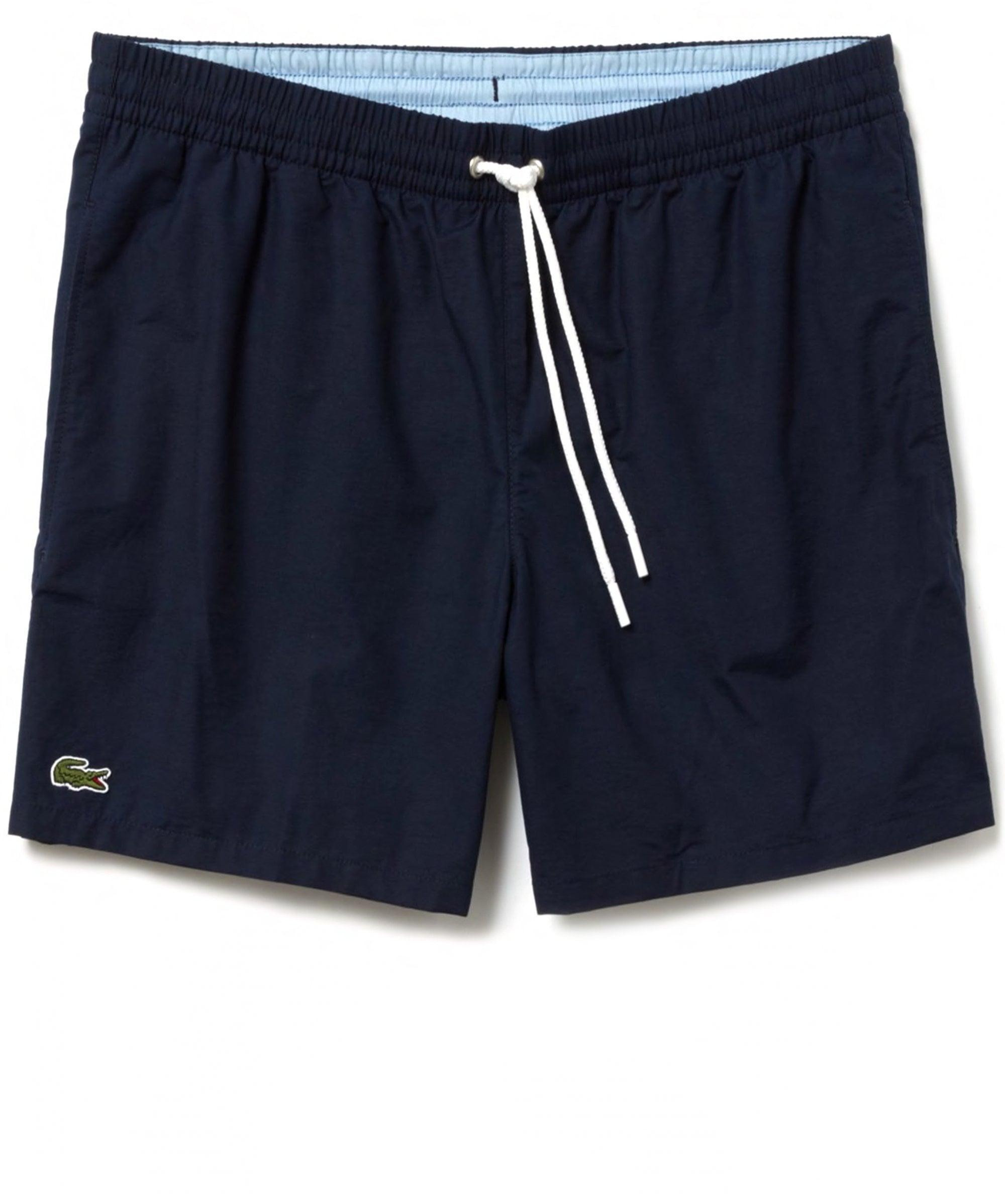 6c4e812d0c Lyst - Lacoste Taffeta Swim Shorts in Blue for Men