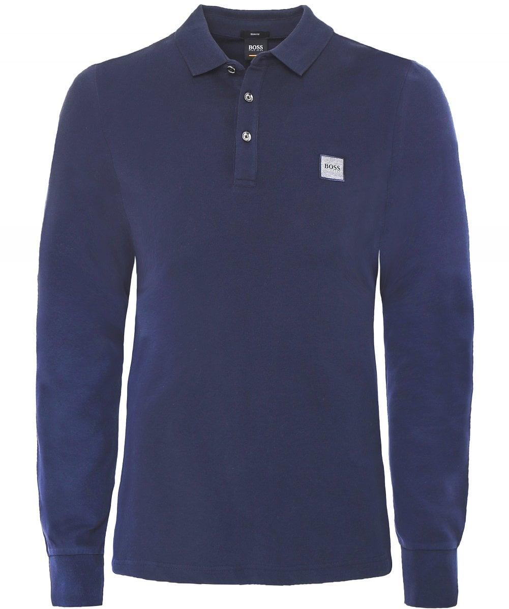 062bcfe1 BOSS - Blue Long Sleeve Passerby Polo Shirt for Men - Lyst. View fullscreen